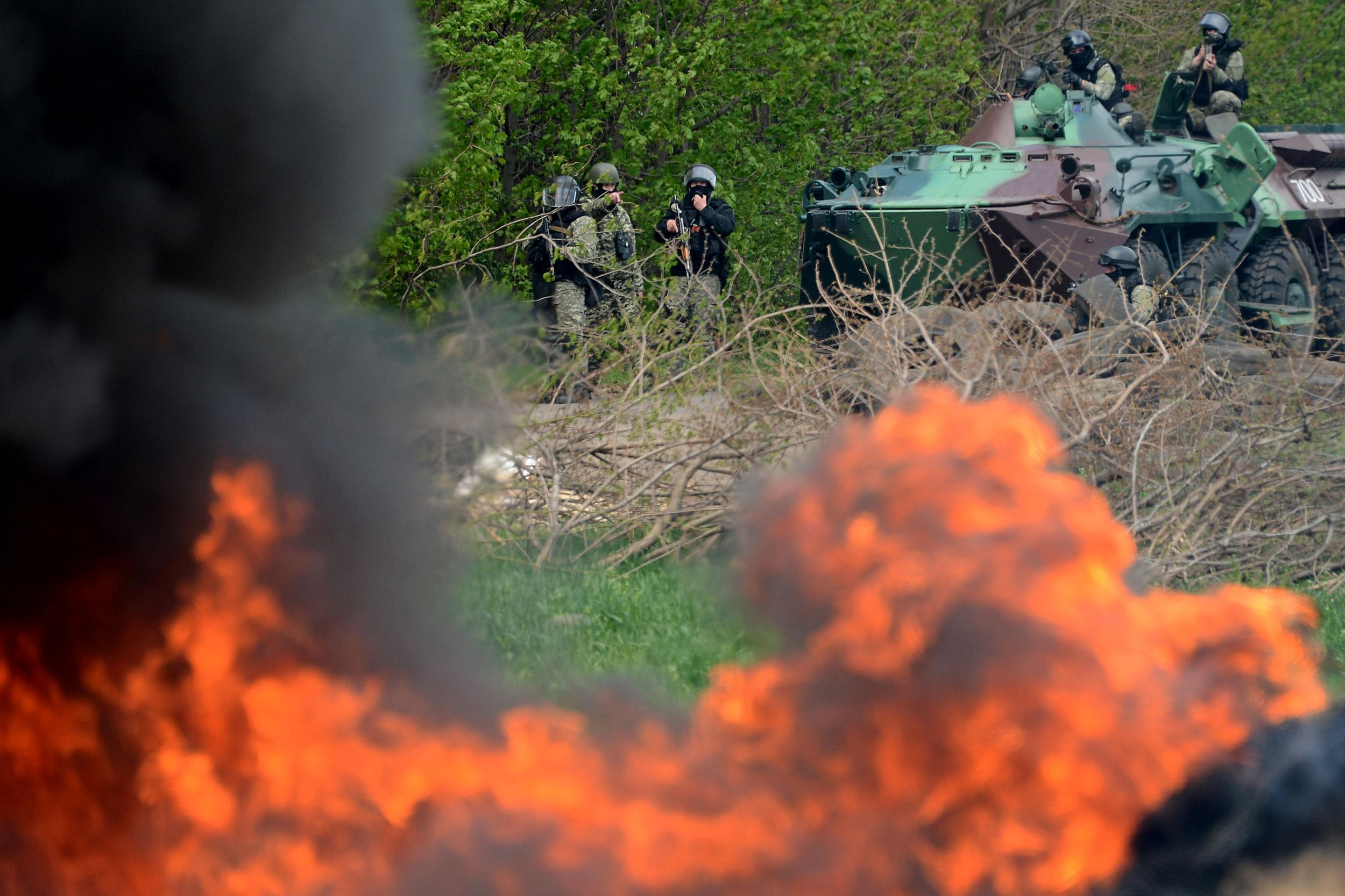 Image: Ukrainian special forces in Slaviansk