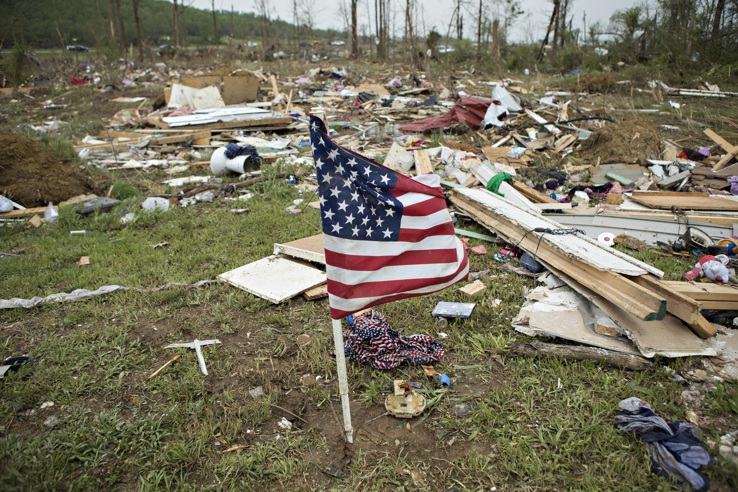 Image: Widespread Damage And Casualties After Tornadoes Rip Through Arkansas