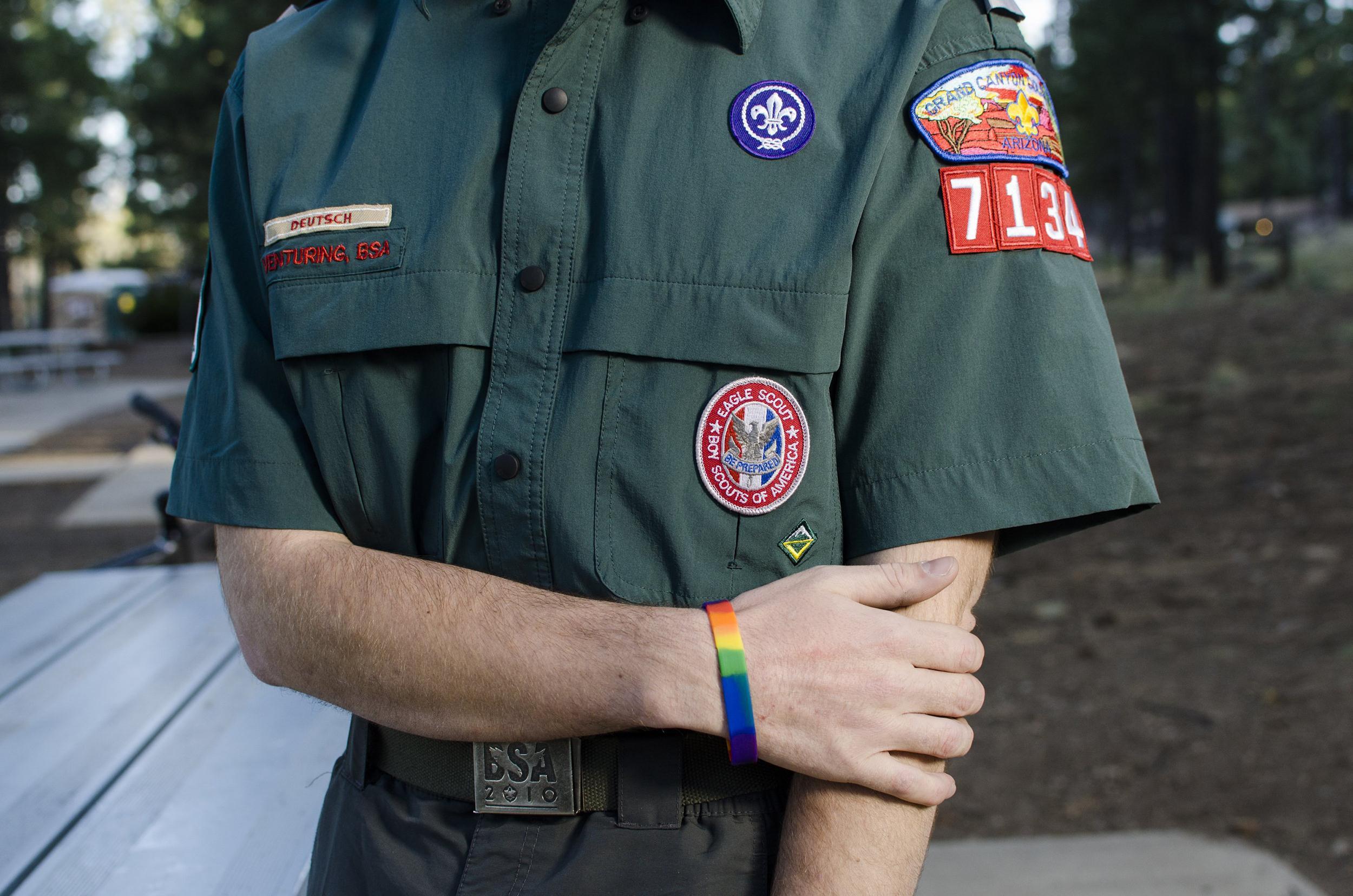 Image: Garrett Bryant in his Boy Scout uniform