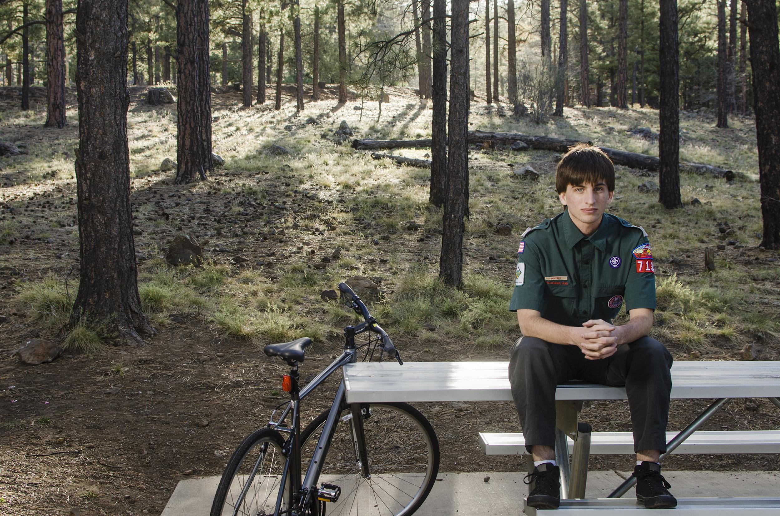 Image: Garrett Bryant, member of The Boy Scouts high adventure