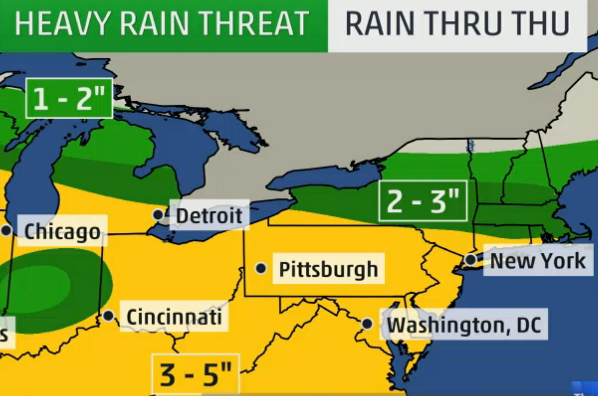 Weather Channel Forecast : Severe storms rain to super soak millions across south