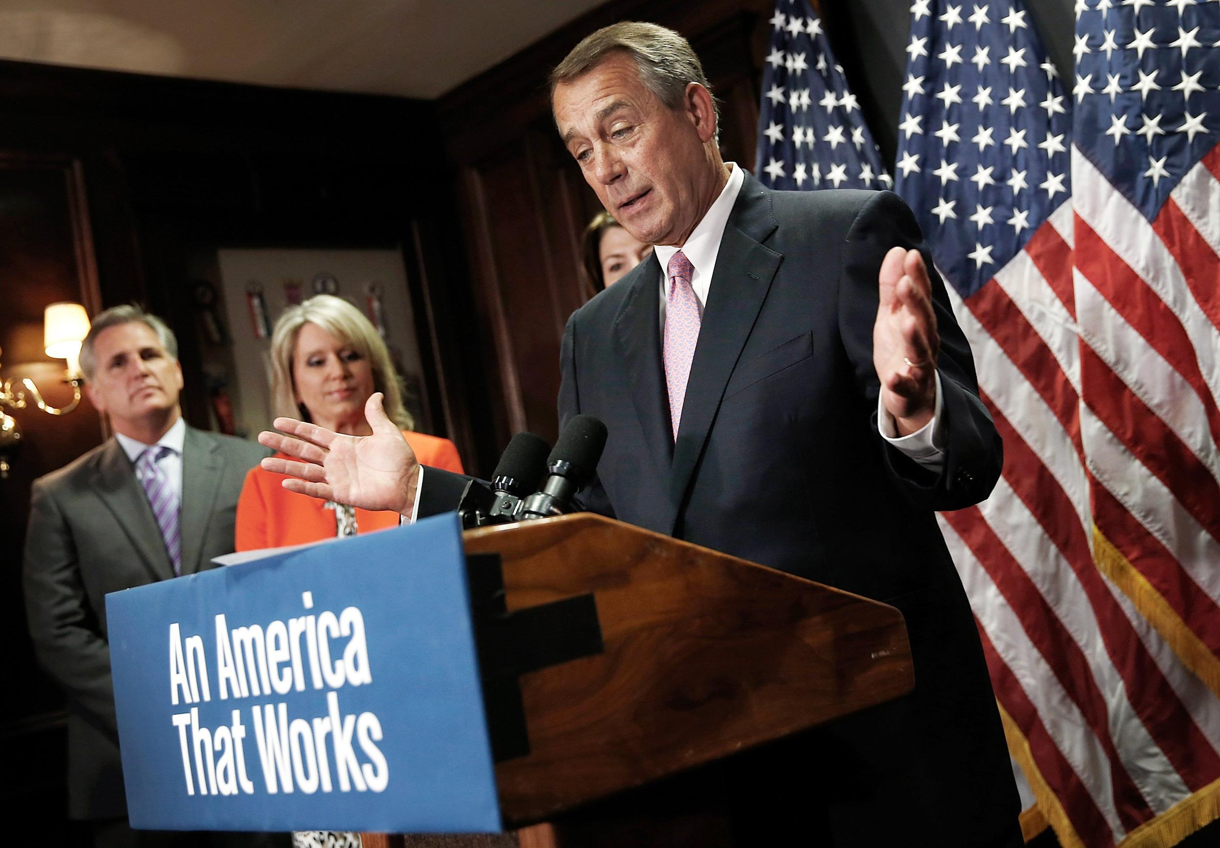 Image: House Speaker Boehner Addresses Media After Weekly Conference Meeting