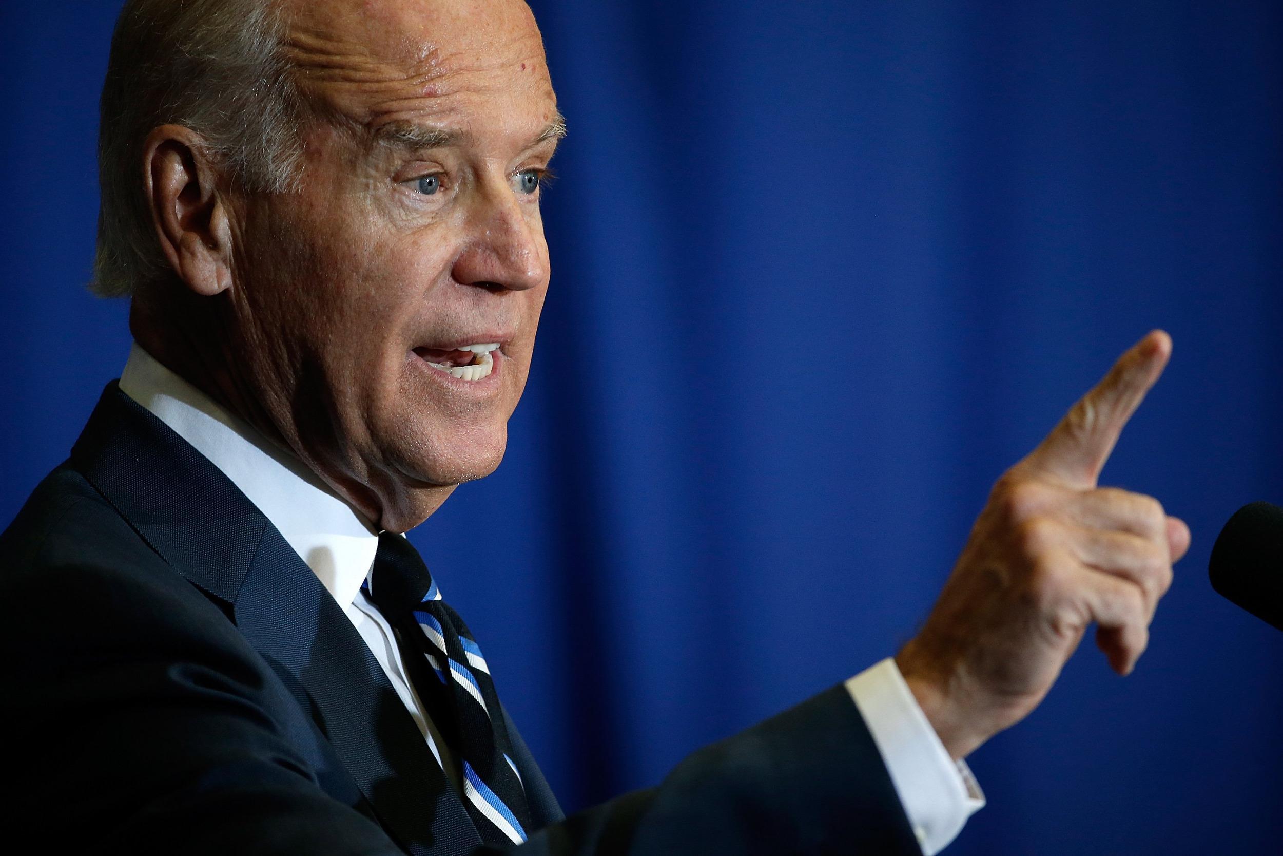 Image: Biden Discusses Budget And Economy At George Washington University