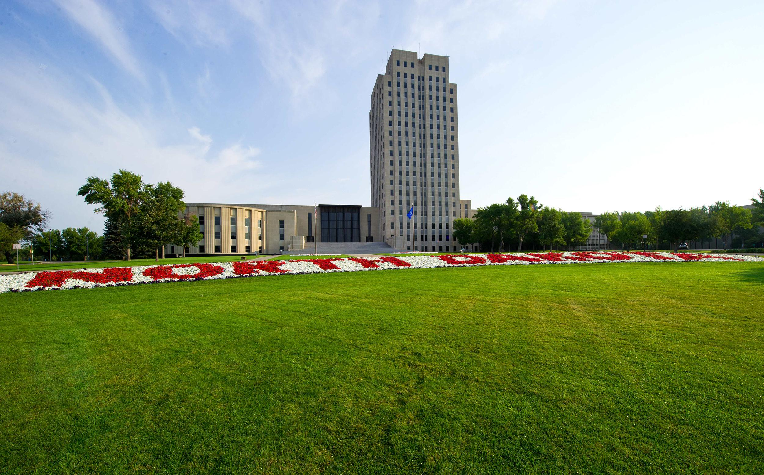 Image: The state Capitol of North Dakota at Bismarck