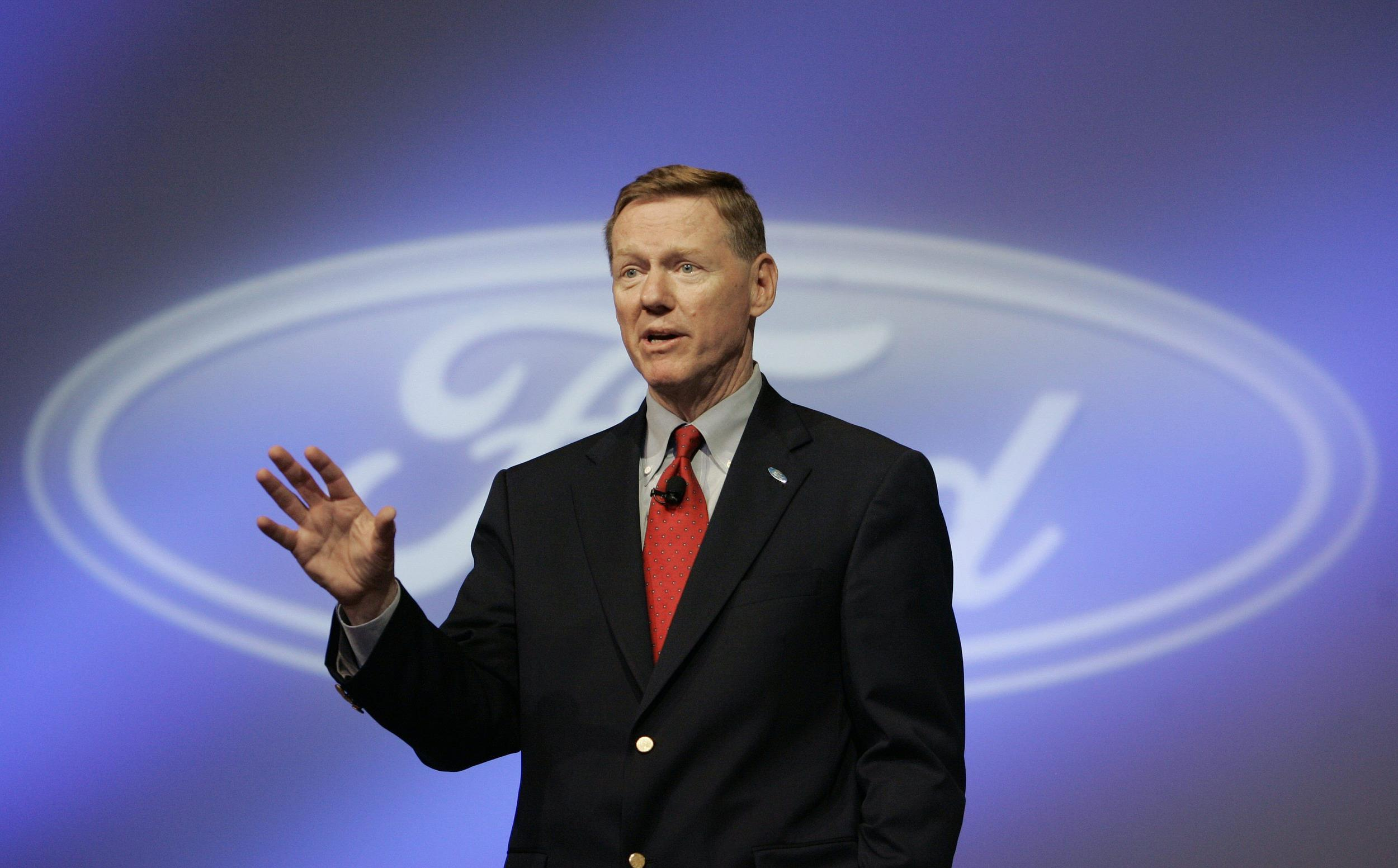 Adieu, adieu. Ford CEO Alan Mulally (pictured here) is stepping down and will be replaced by Ford veteran Mark Fields.