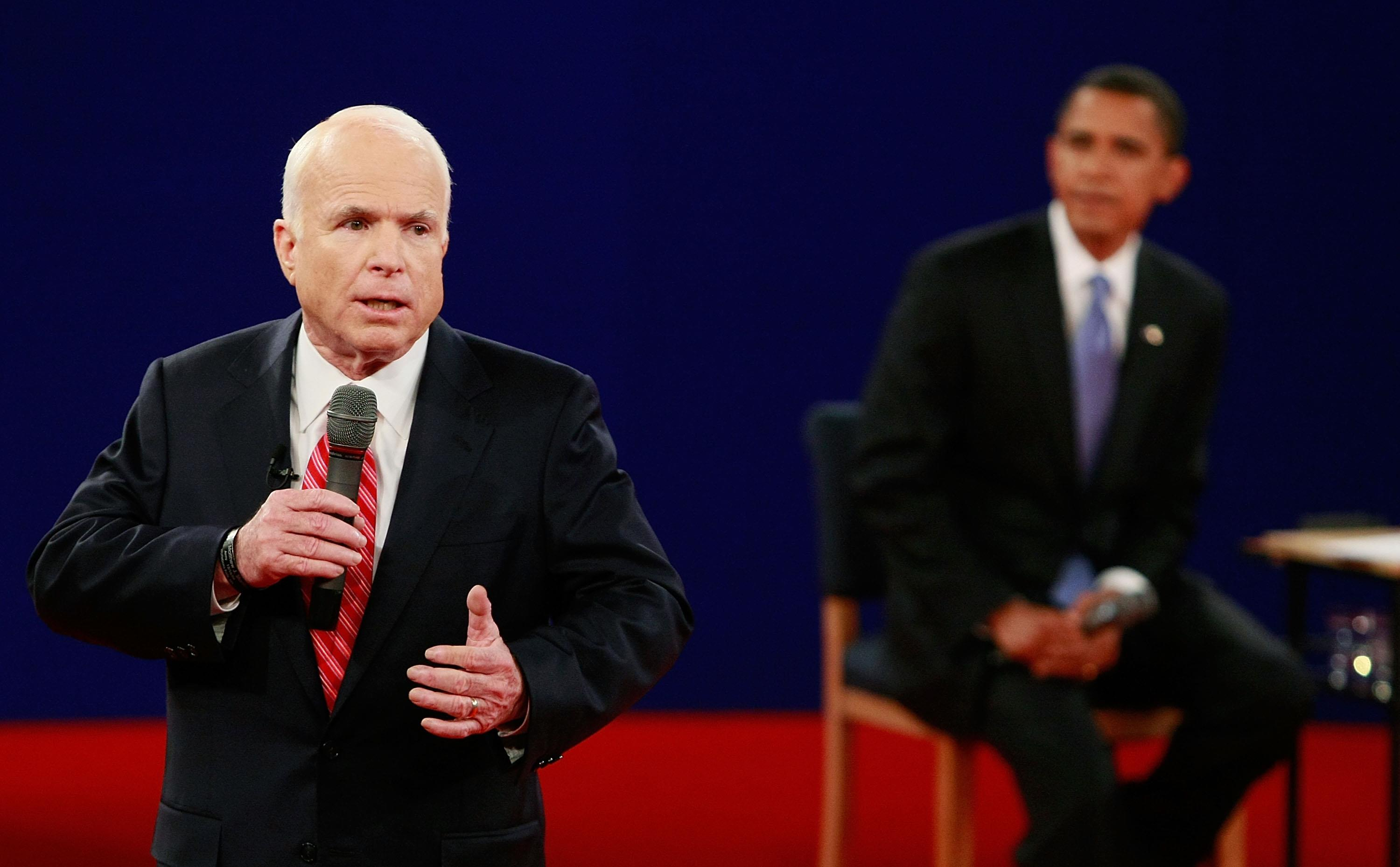 Image: McCain And Obama Spar In Second Presidential Debate