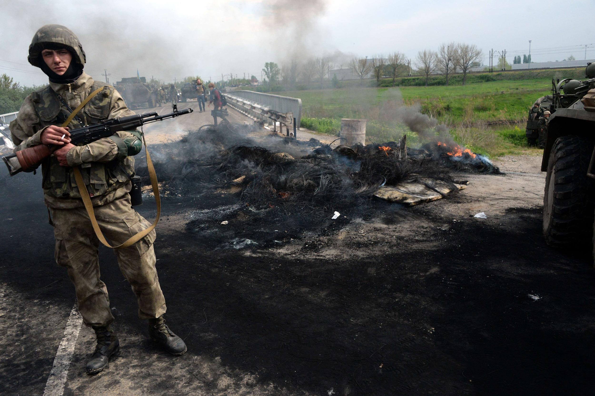 Image: UKRAINE-RUSSIA-POLITICS-CRISIS-SLAVYANSK