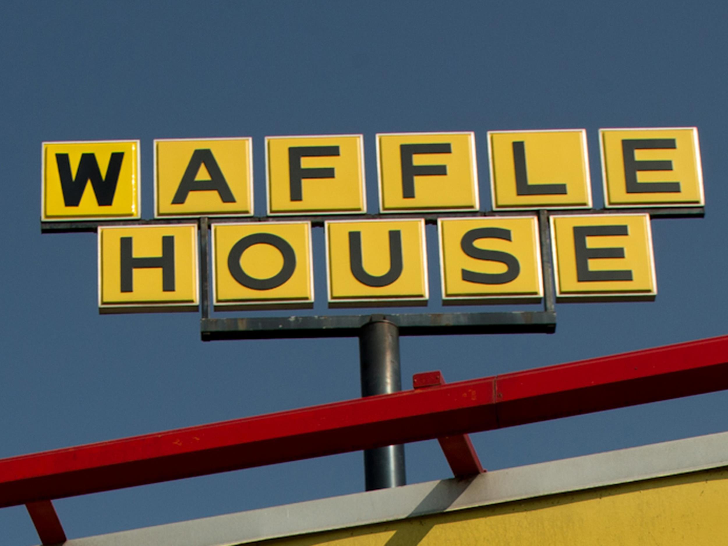 Image: Image: A Waffle House sign