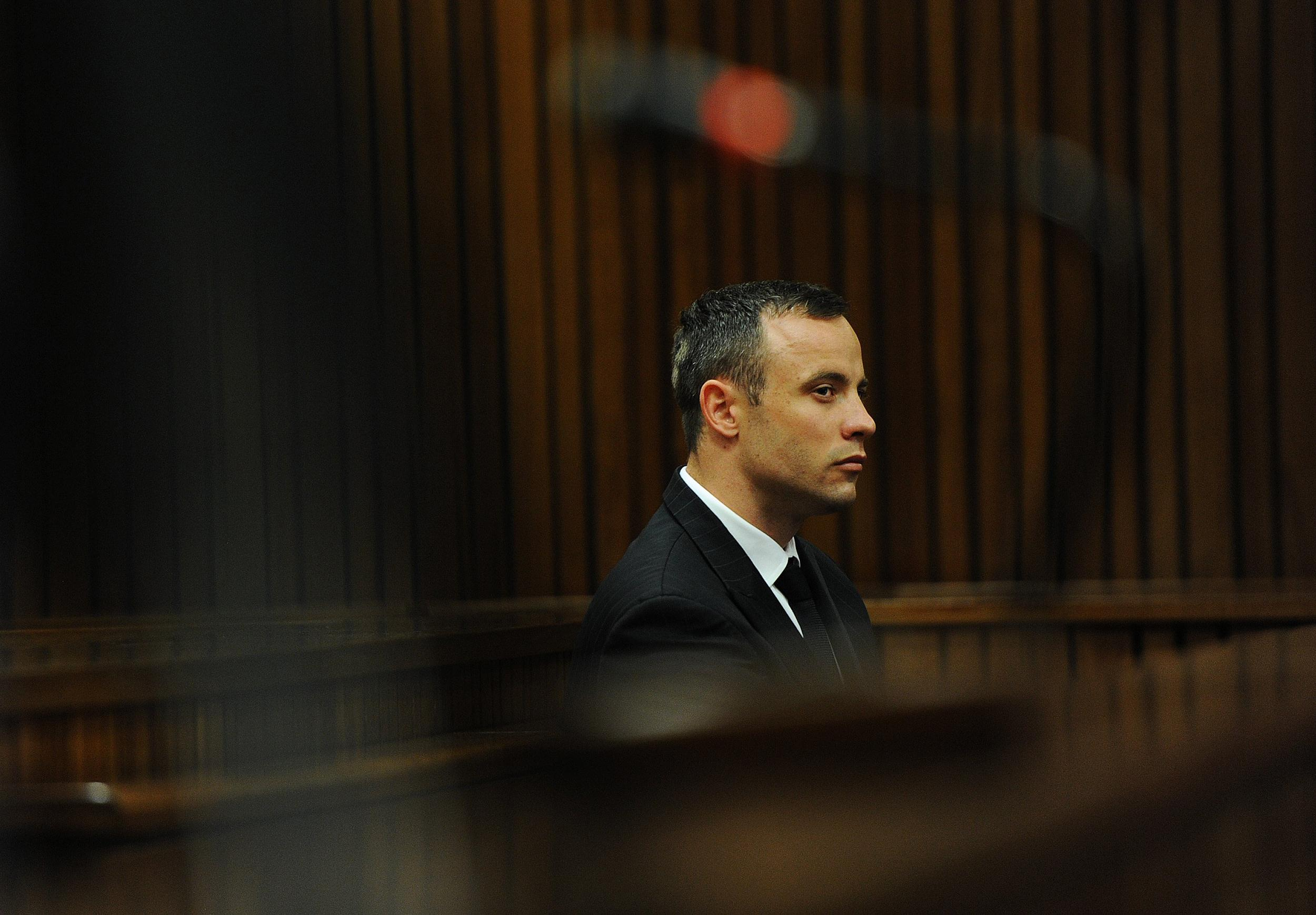 Image: Oscar Pistorius Is Tried For The Murder Of His Girlfriend Reeva Steenkamp