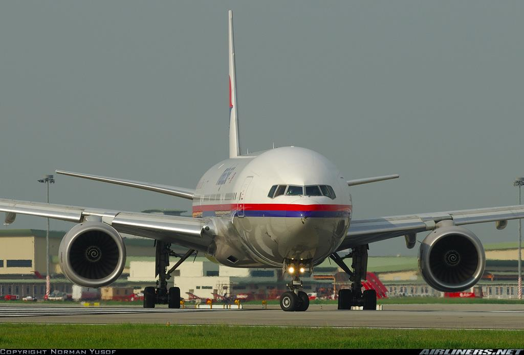 Image: Malaysia Airlines Boeing 777 jet