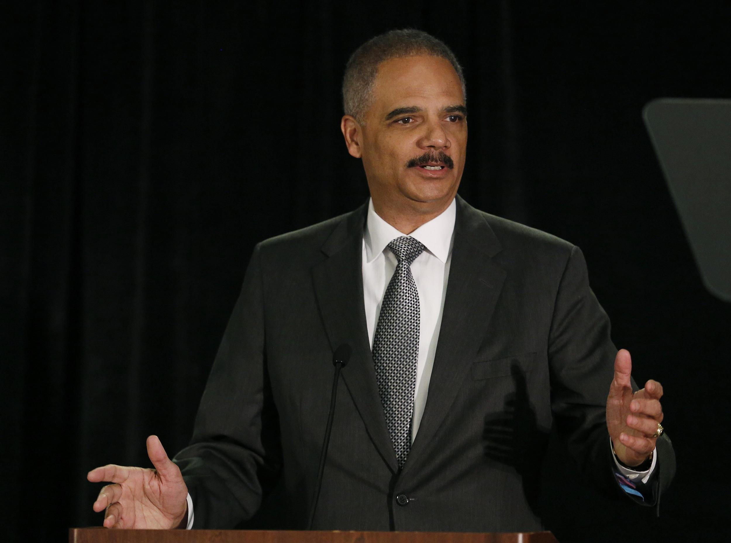 U.S. Attorney General Eric Holder said no person or bank is immune to prosecution if they break the law.