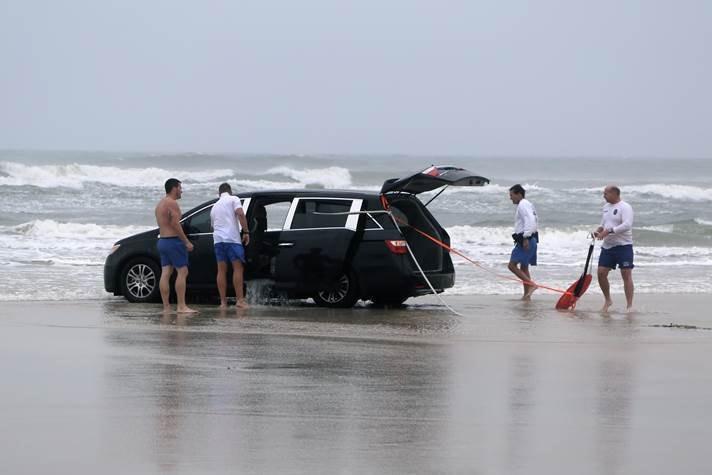 Image: Van near ocean