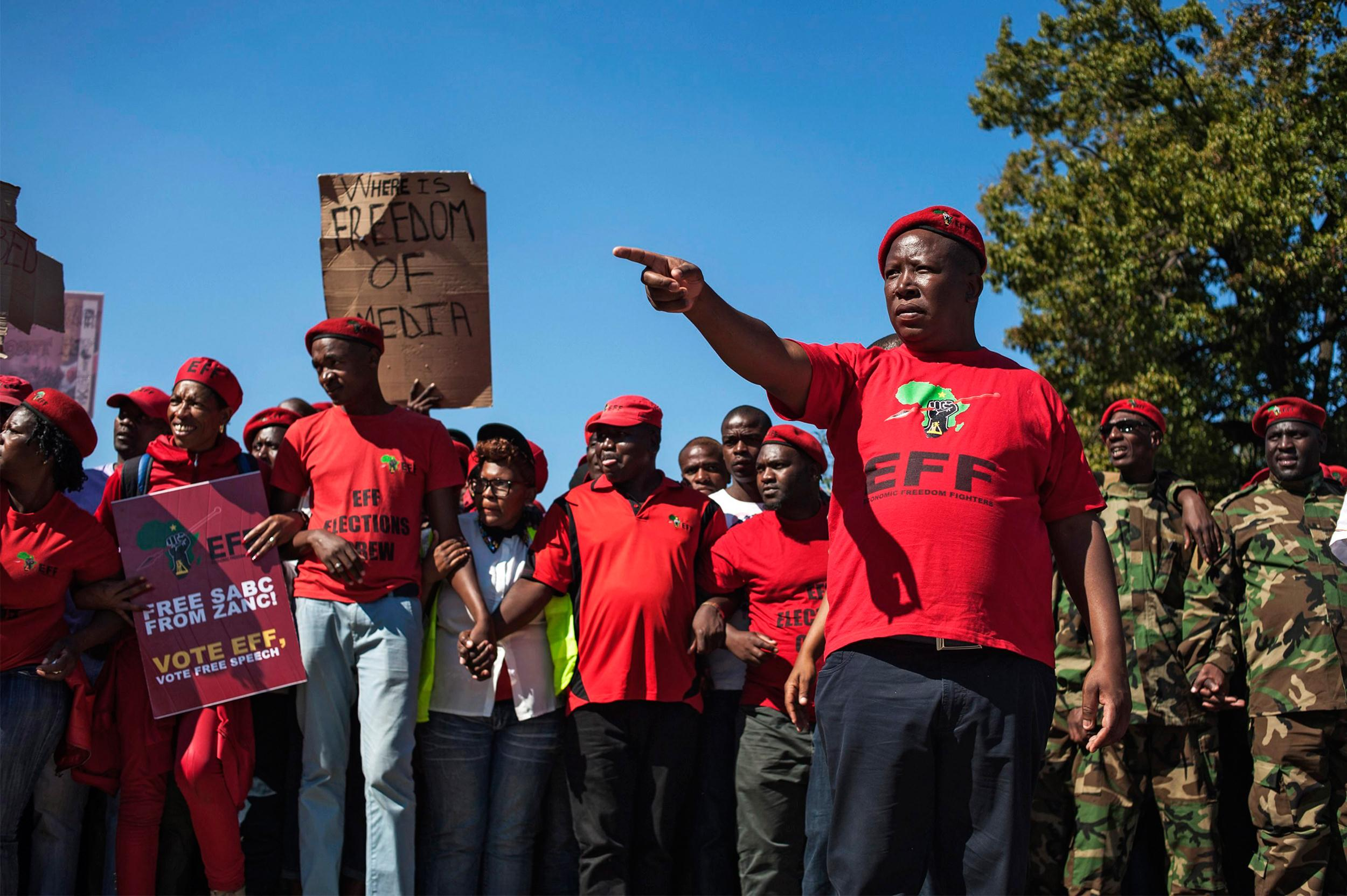 Image: Julius Malema, leader of the South African political party The Economic Freedom Fighters (EFF)