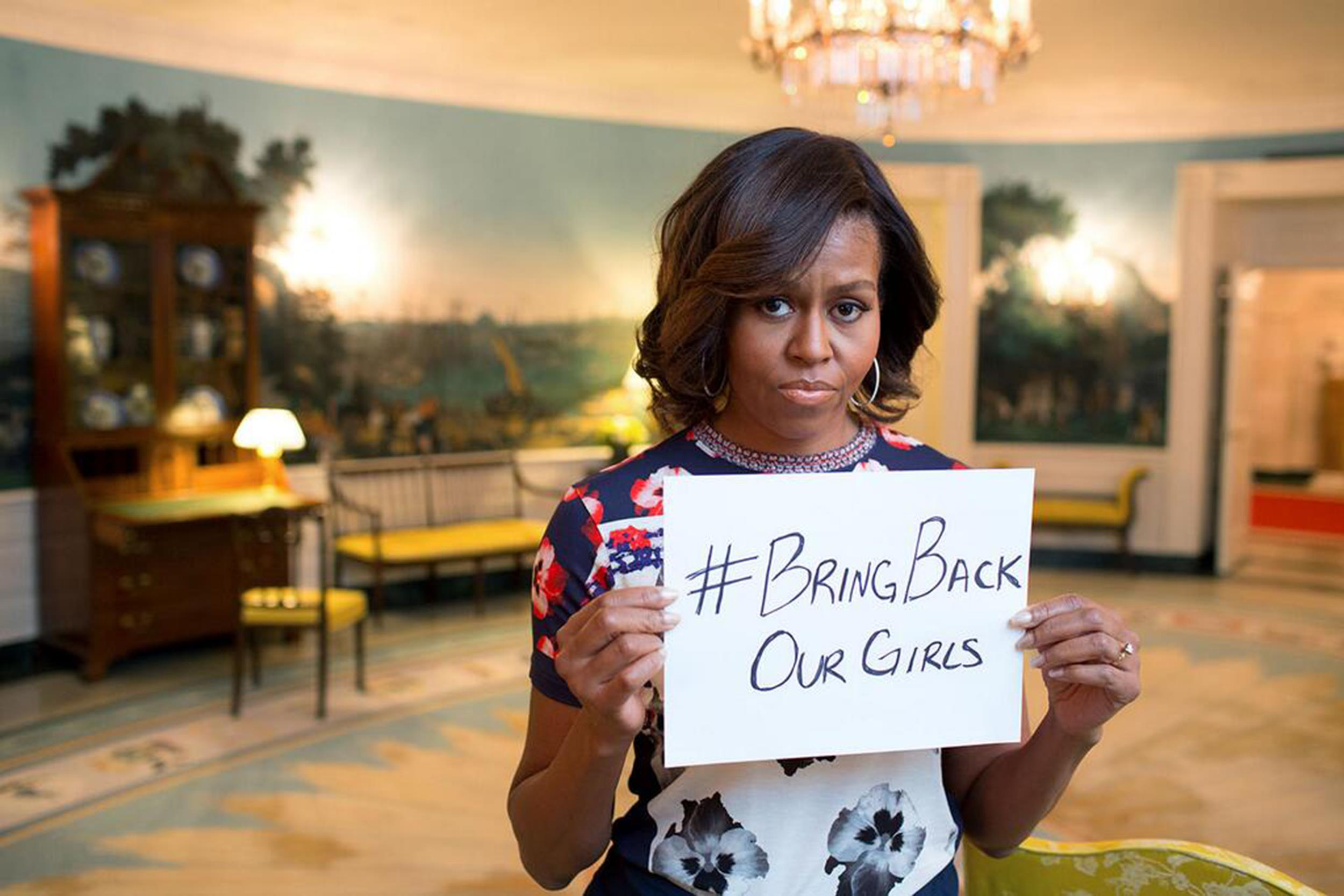 Michelle Obama Tweets Message of Support for Missing Nigerian Girls ...