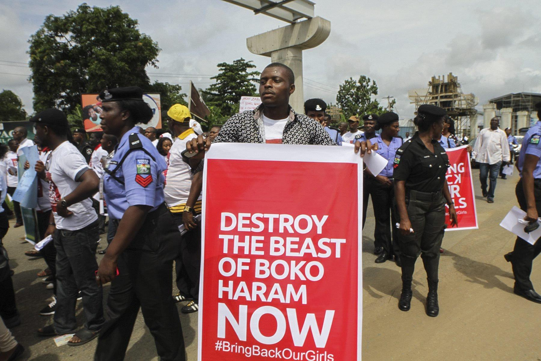 Image: Protest against Nigeria's failure to rescue abducted schoolgirls on Wednesday