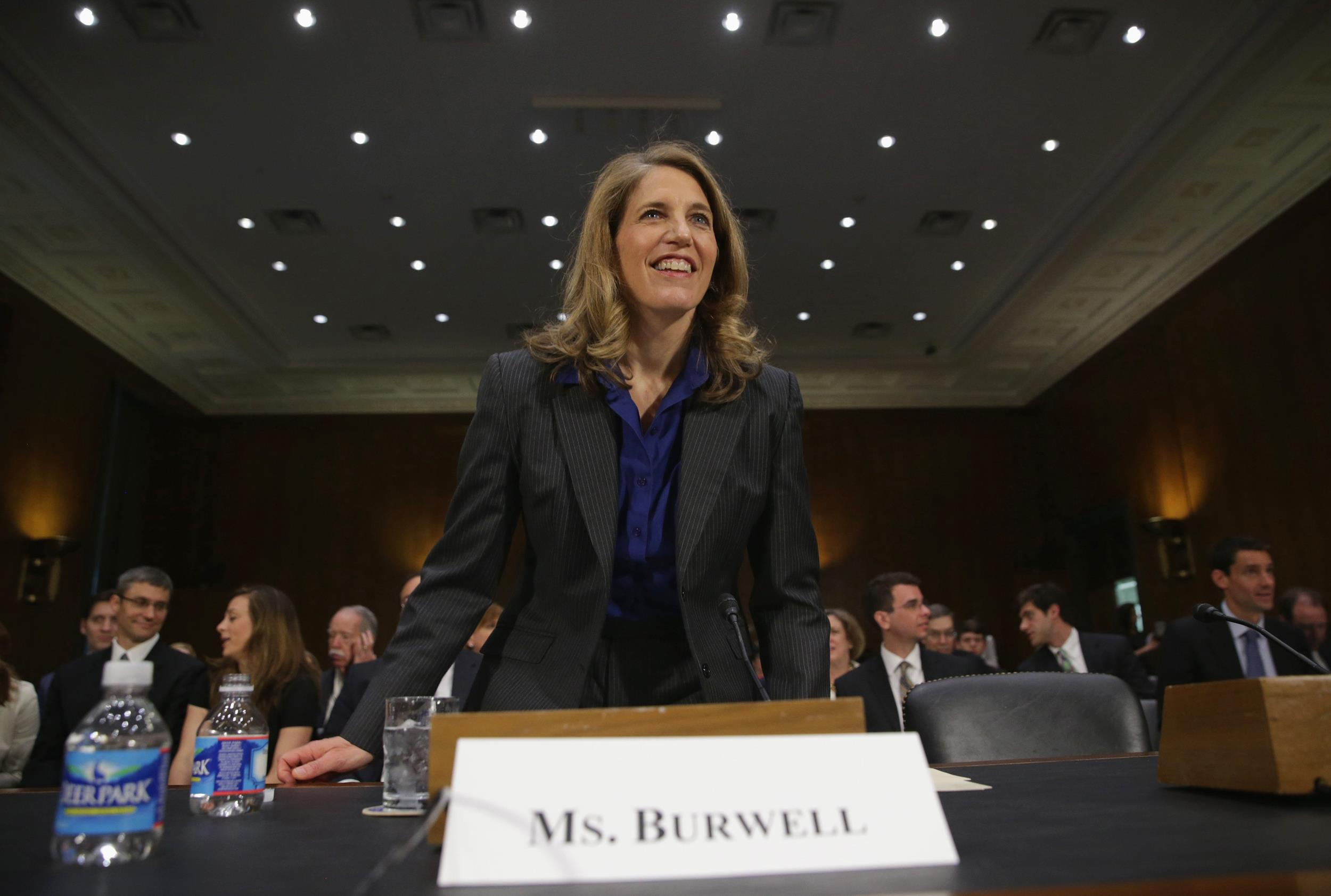 Image: Senate Health Committee Holds Confirmation Hearing For Sylvia Burwell To Lead The Health And Human Services Dept.