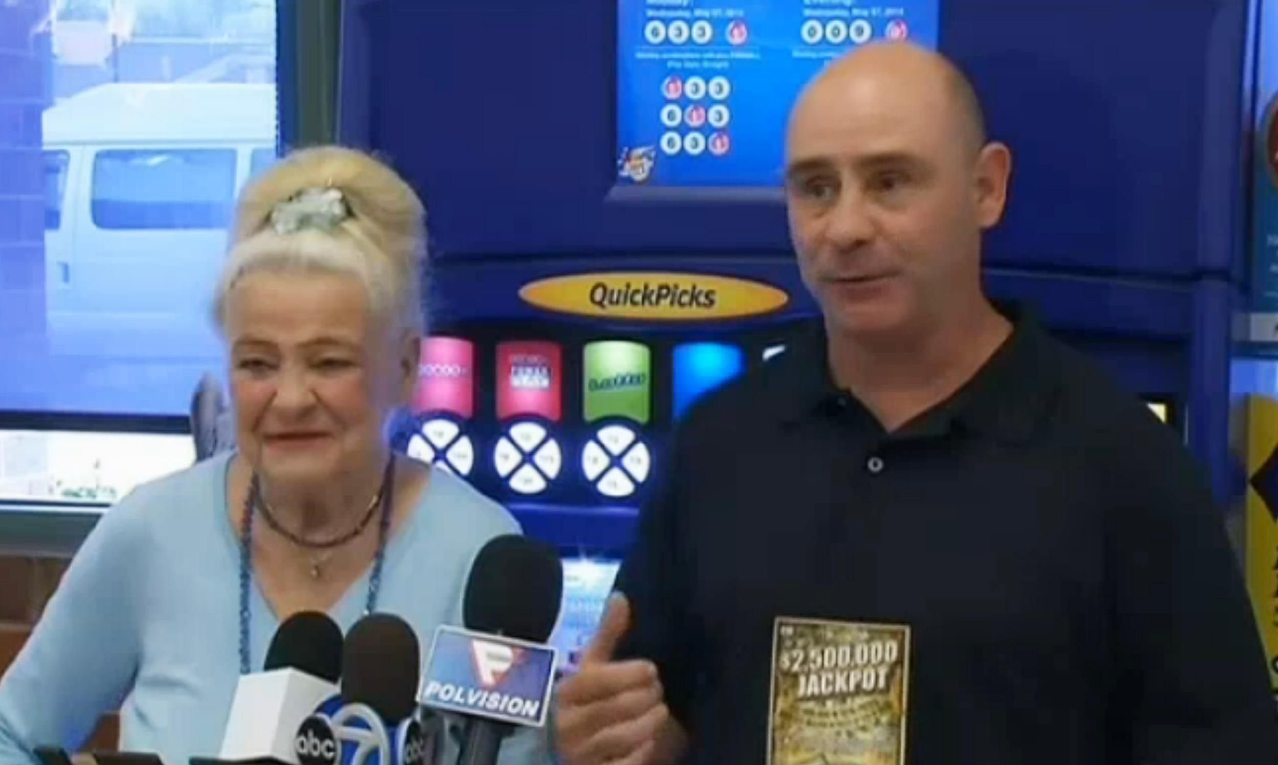 Image: Daniel Stojak won $2.5 million from a $10 Illinois Lottery scratch off ticket that his mother, Shirley, bought for him on April 1.