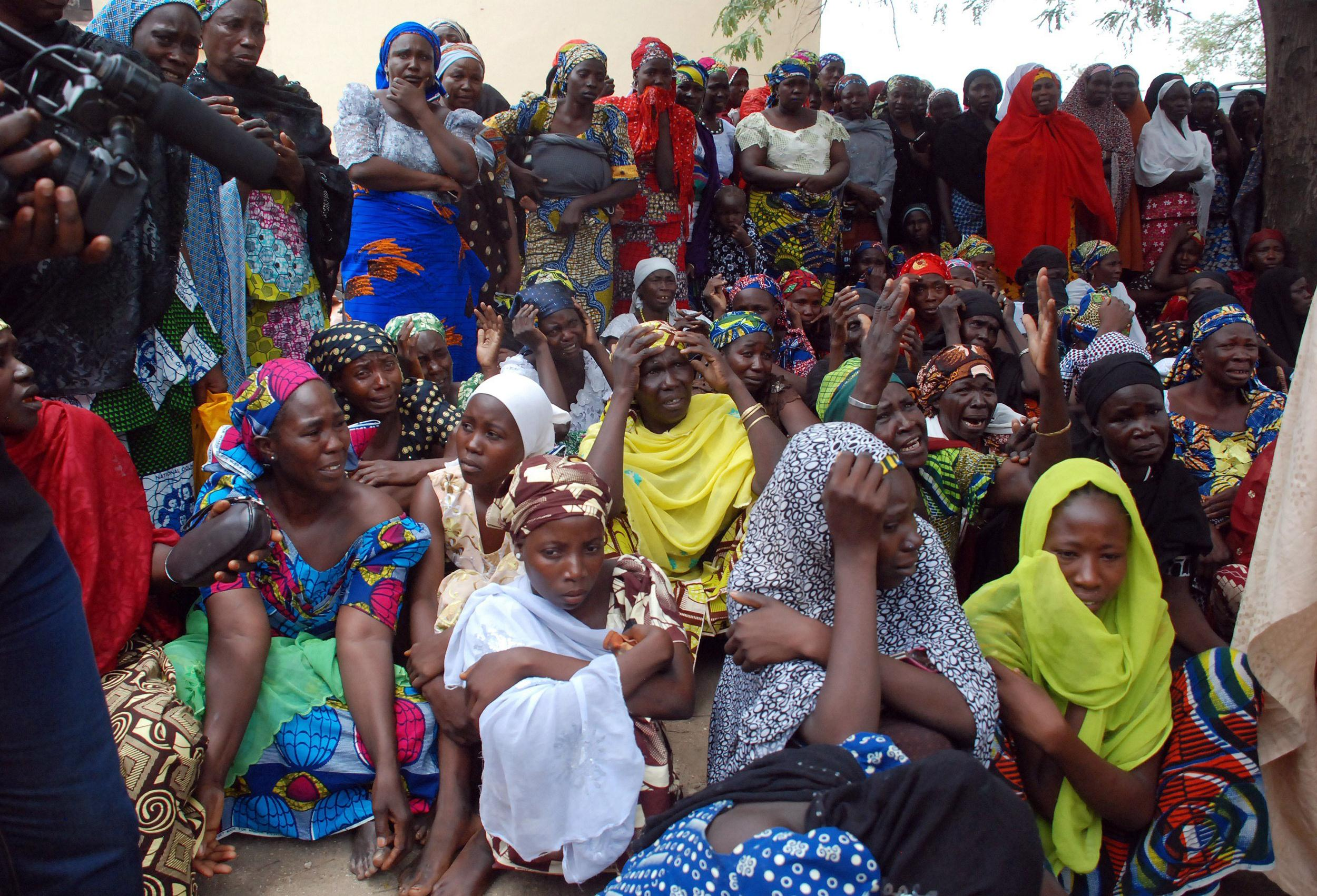 Image: Mothers of the missing Chibok schoolgirls abducted by Boko Haram