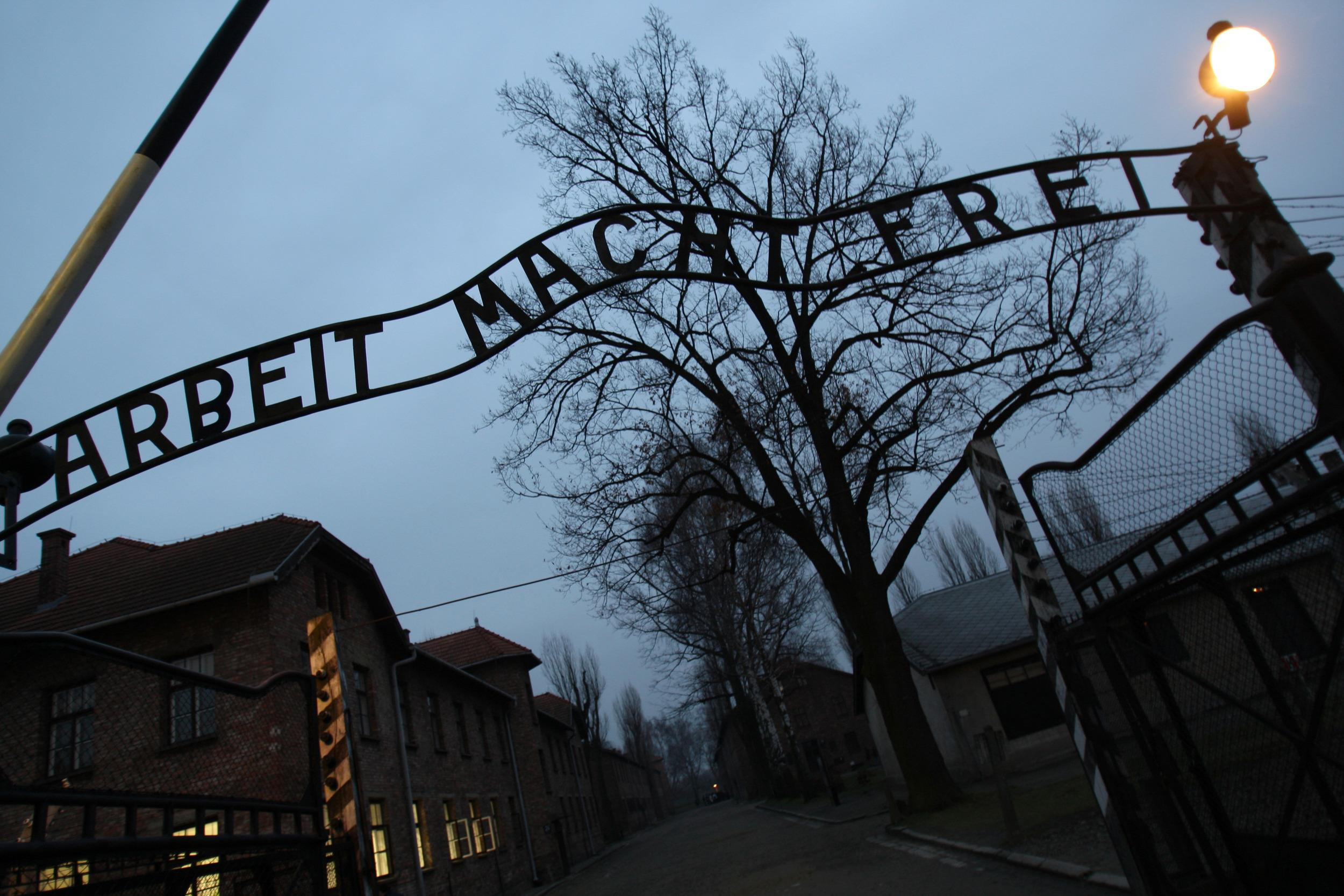 Image: Entrance to Auschwitz