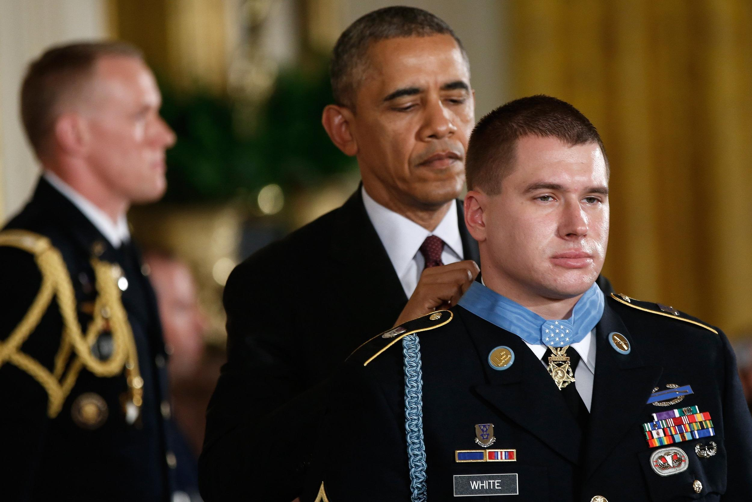 Image: President Obama Awards The Medal Of Honor To Army Sergeant Kyle White