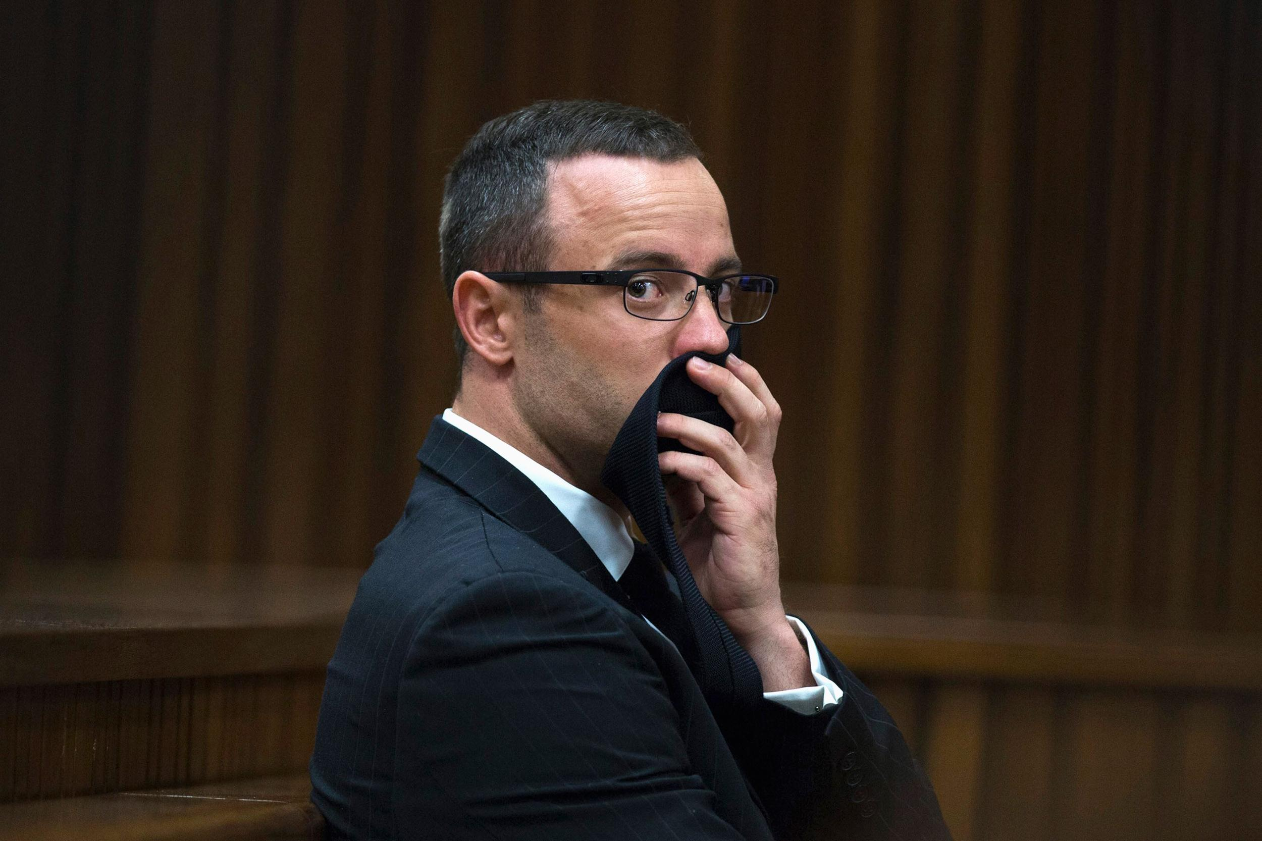 Image: Oscar Pistorius looks on during his trial at the North Gauteng High Court in Pretoria