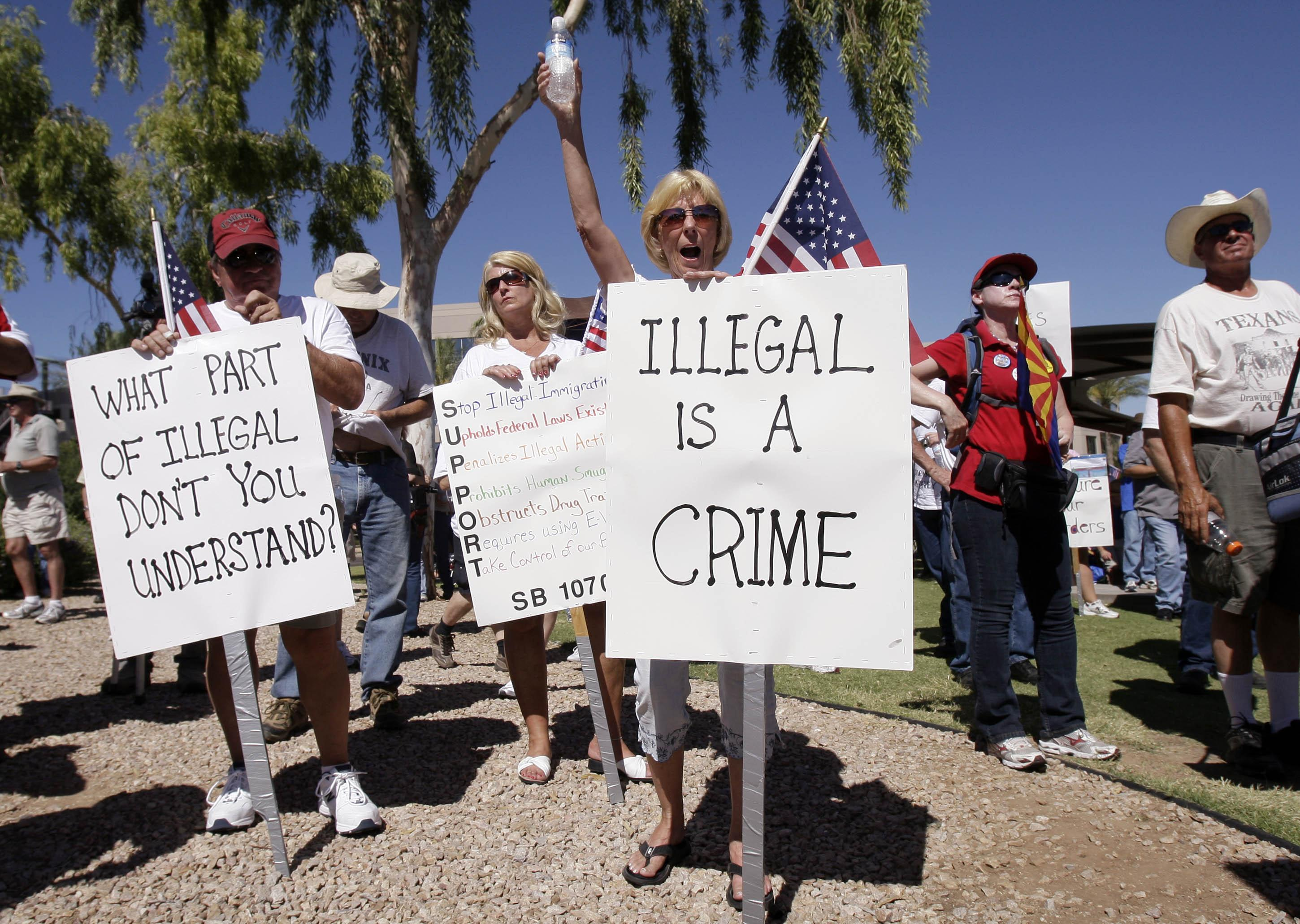 Image: Protest in Glendale, Ariz.