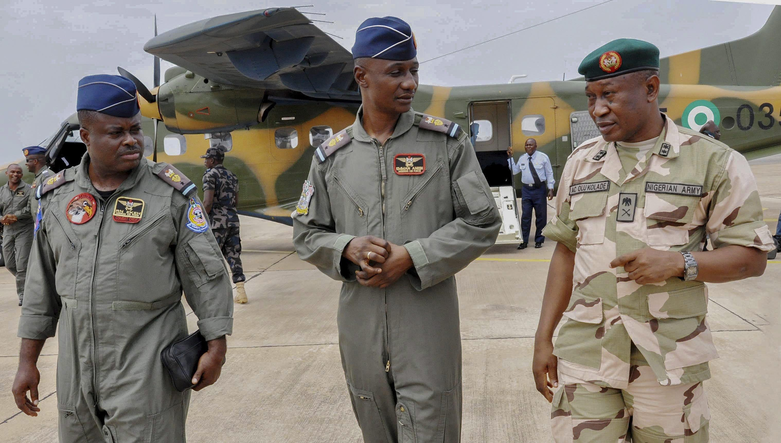 Image: Nigerian military search for Chibok girls