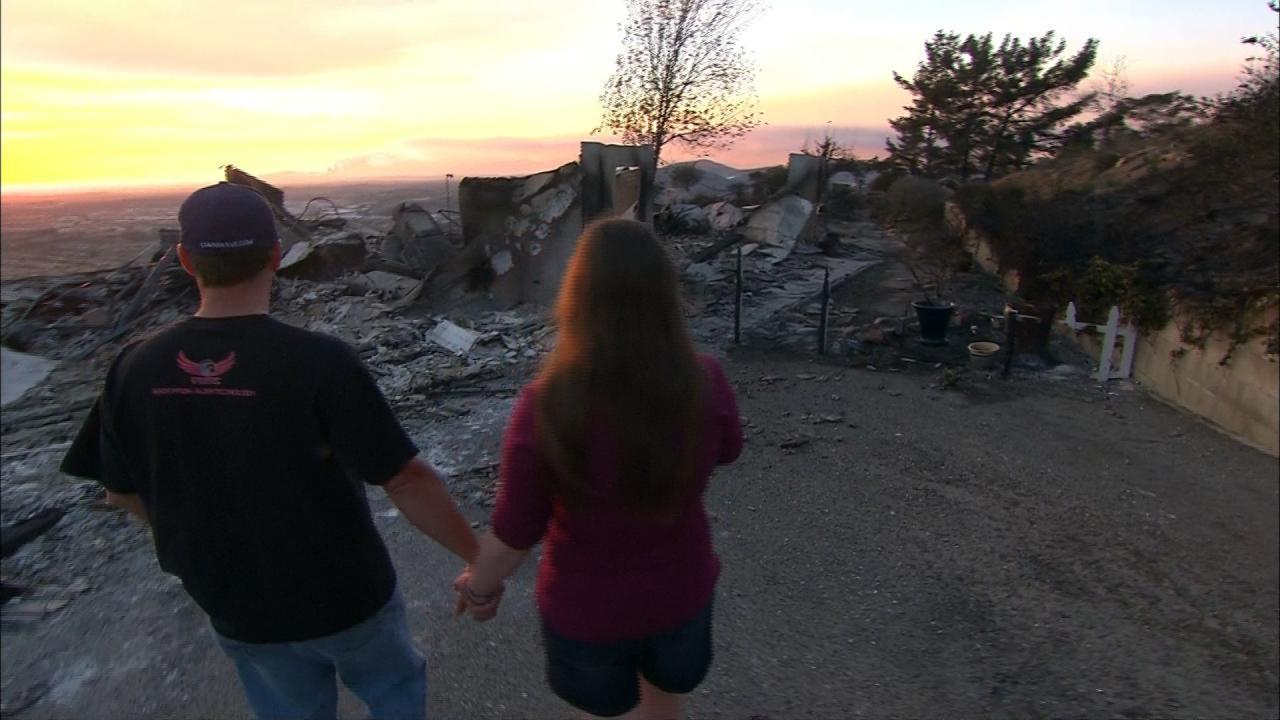 San Diego Wildfires destroy Scott and Amanda Seperke's home.