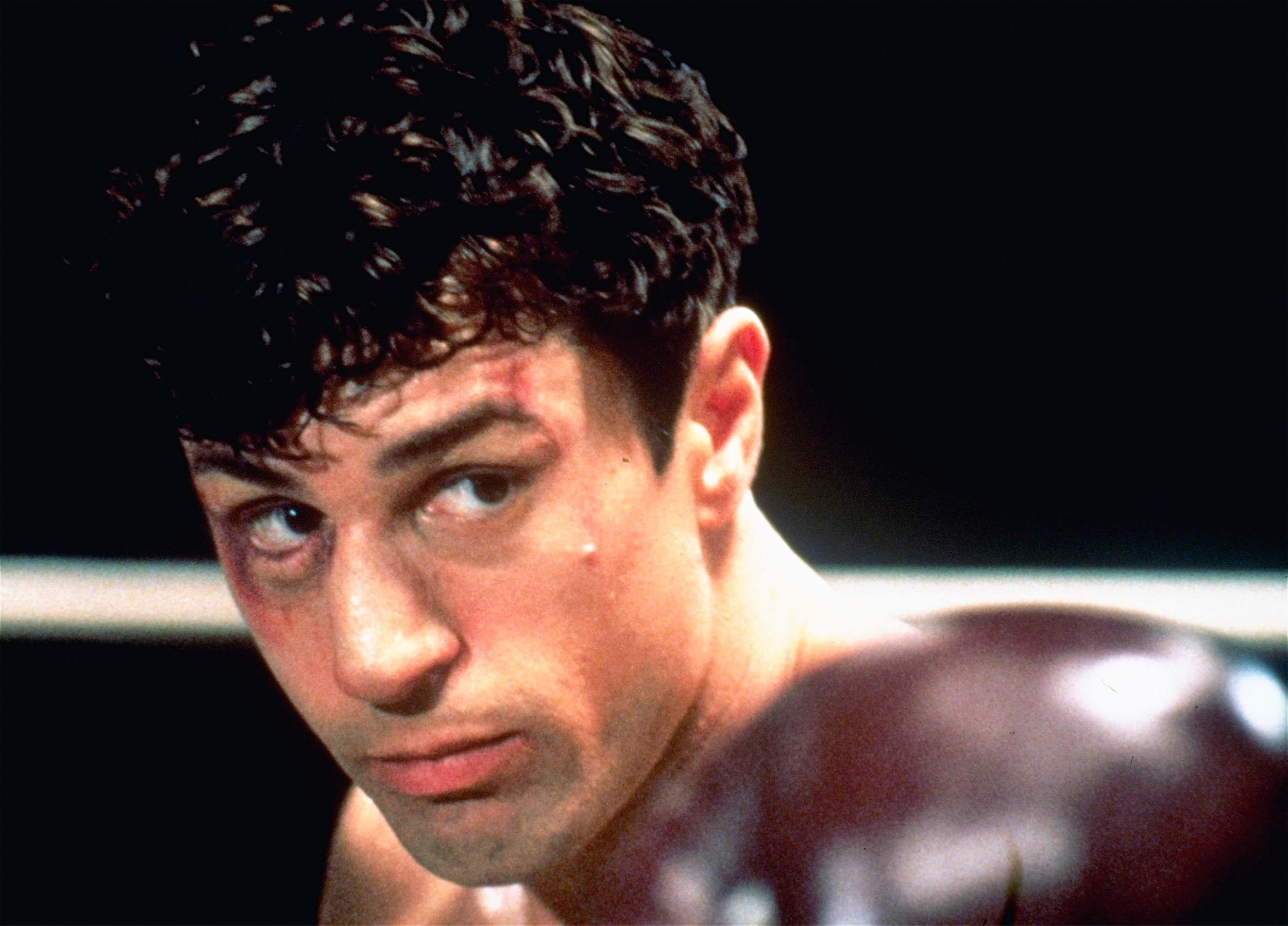 Image: This 1980 file photo showing Robert De Niro as Jake La Motta in a boxing scene from Martin Scorsese's film
