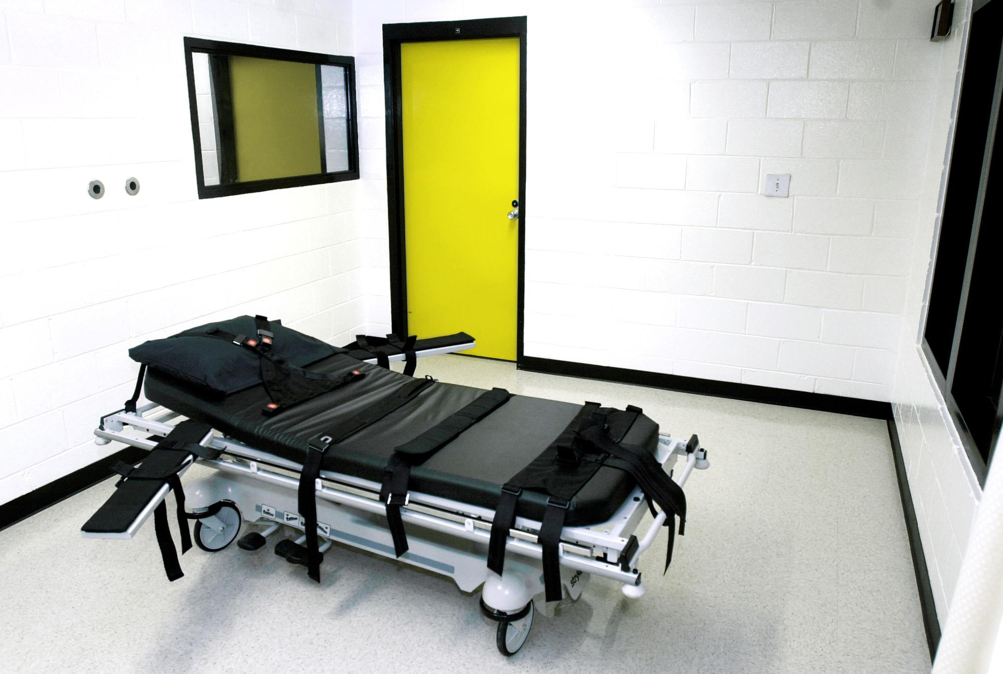 Image: The death chamber at the state prison in Jackson, Ga