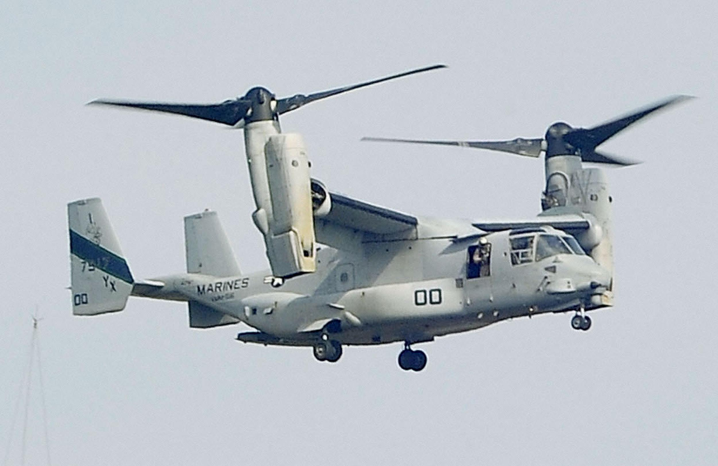An MV-22 Osprey aircraft of the U.S. Marine Corps