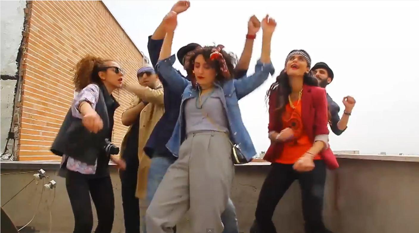 Imnage: A group of young Iranians was arrested after posting a homemade video set Pharell's his world-famous song