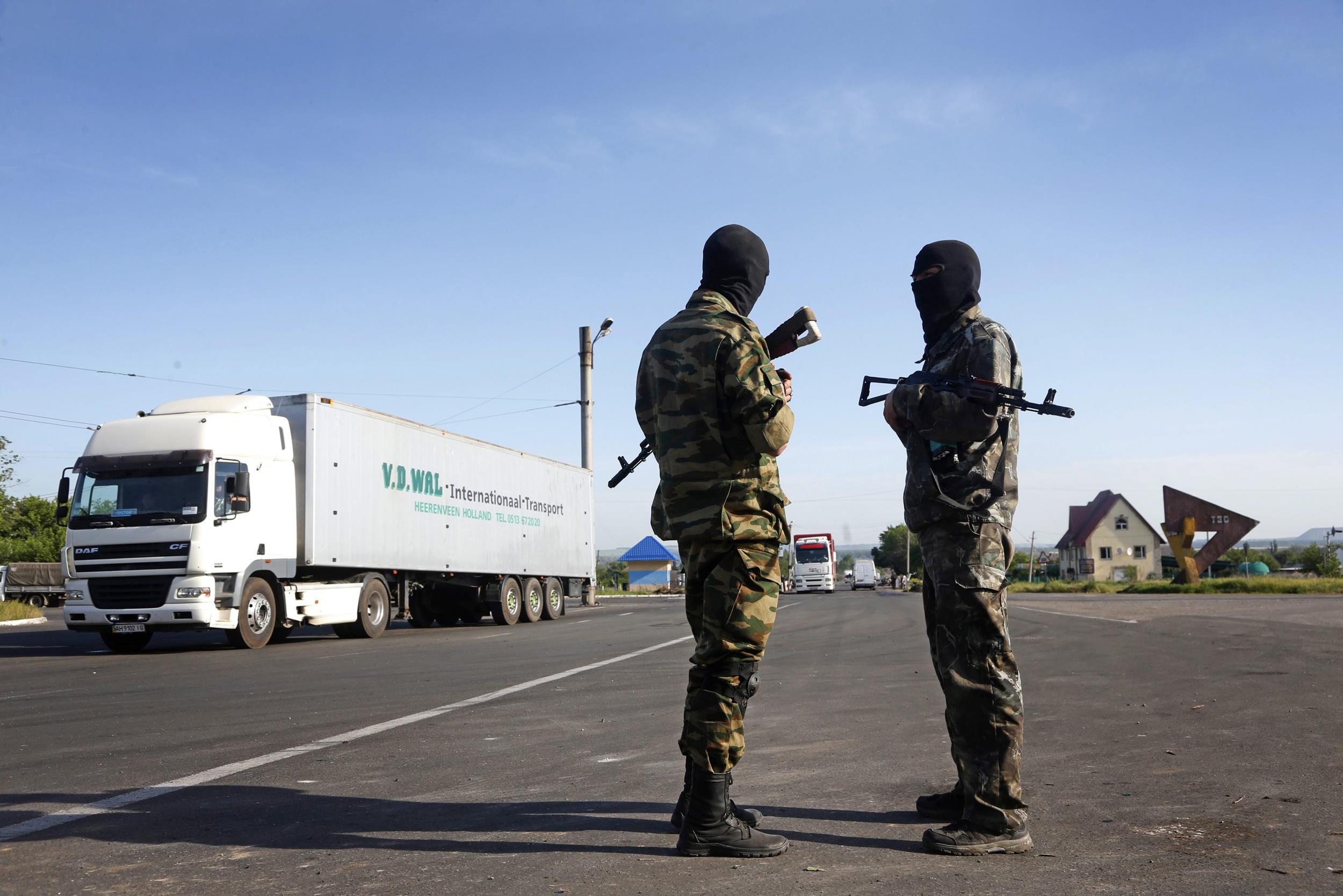 Image: Clashes in eastern Ukraine