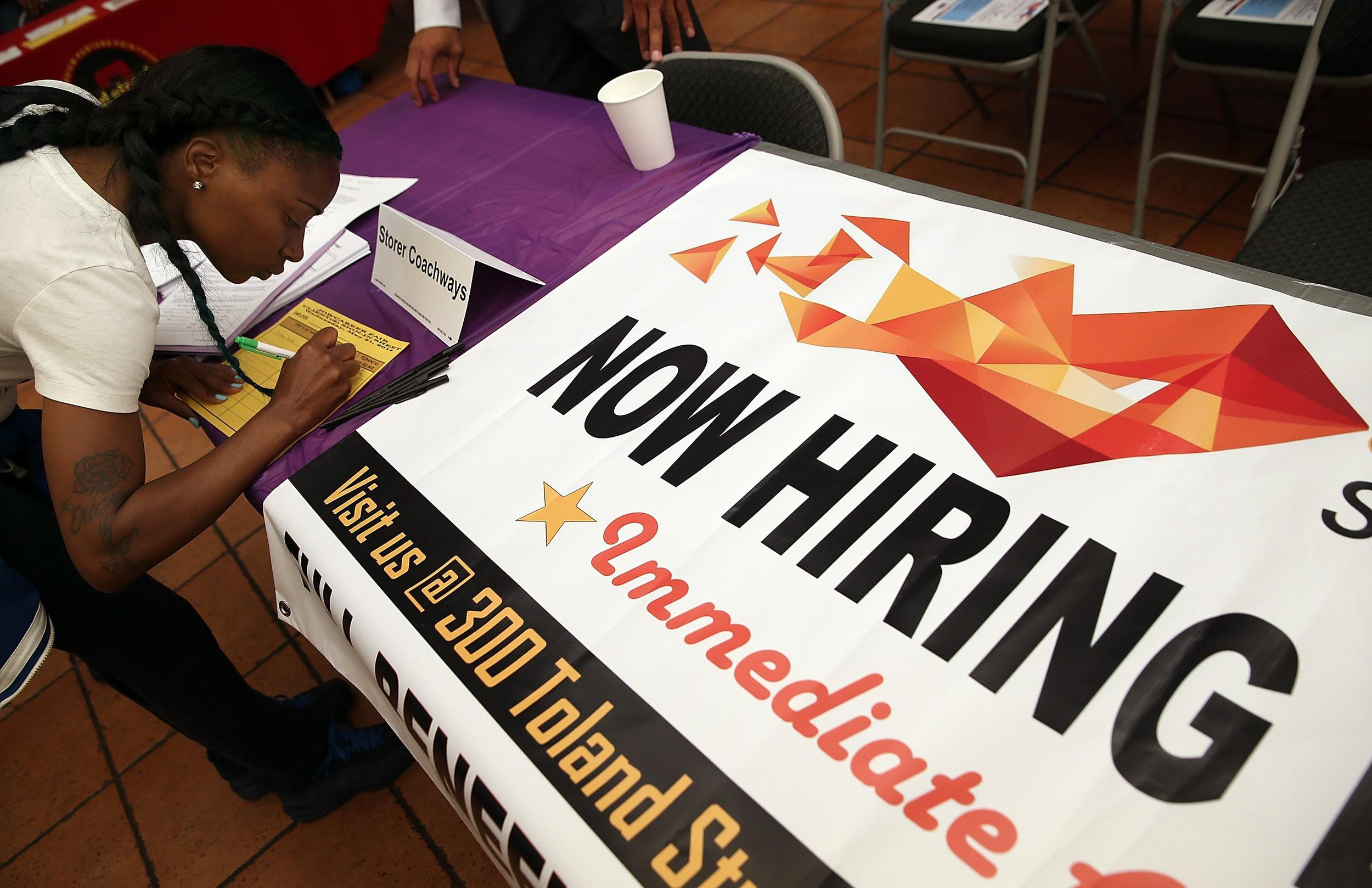 The number of Americans filing new claims for unemployment benefits rose last week but stayed close to a seven-year low.