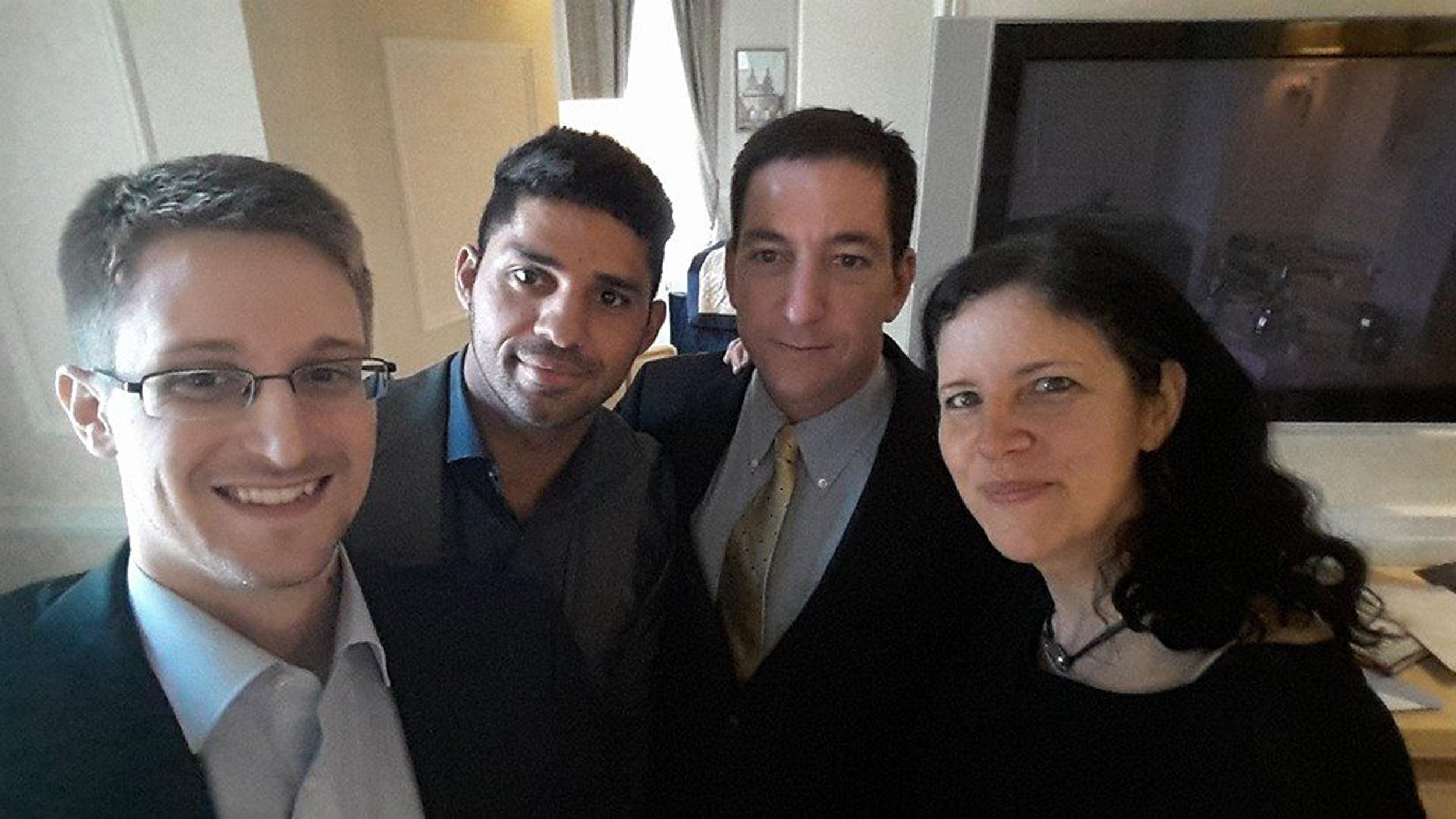 Image: Snowden selfie