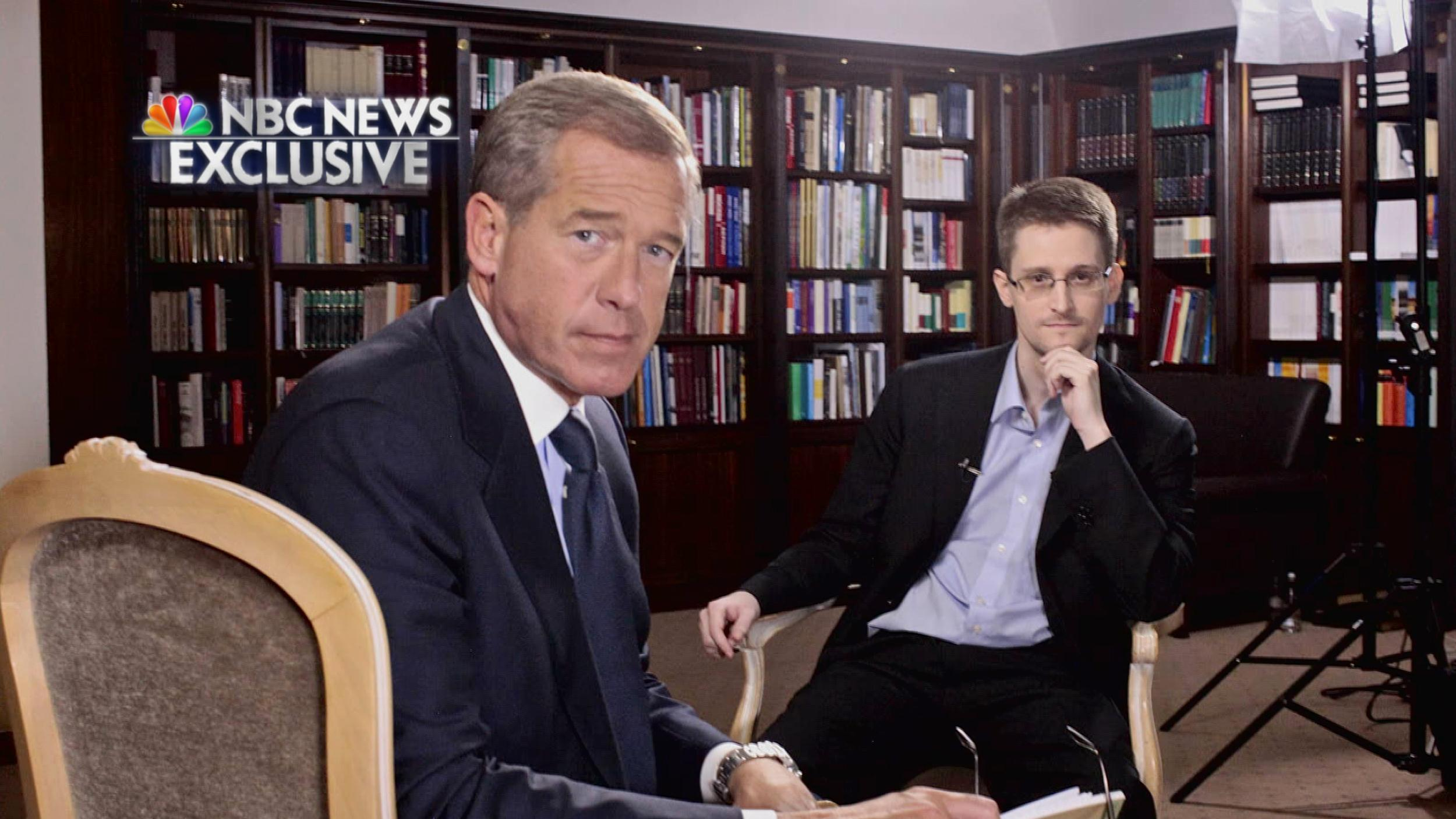 Image: Brian Williams and Edward Snowden during an exclusive interview