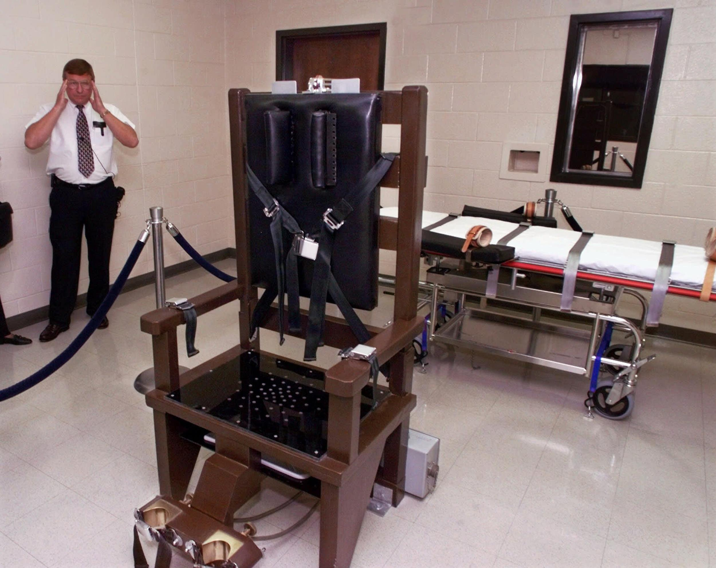Image: The electric chair at  Riverbend Maximum Security Institution in Nashville, Tenn.