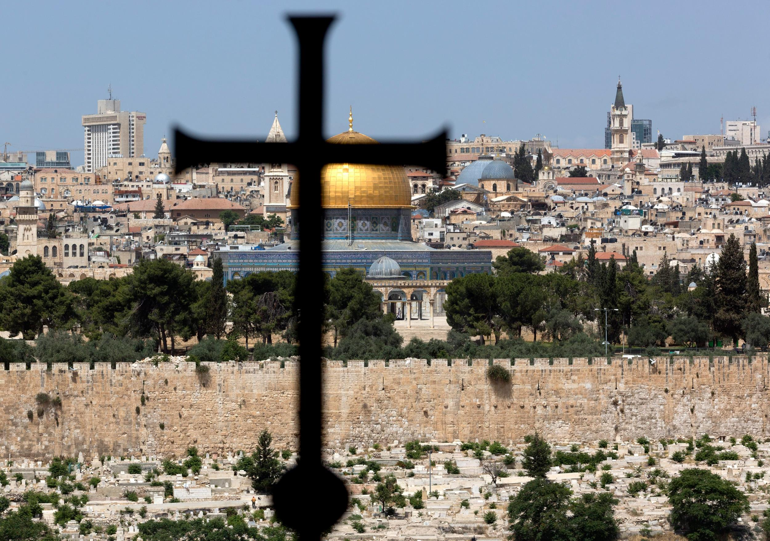Image: View of Jerusalem from Dominus Flavit on Mout of Olives