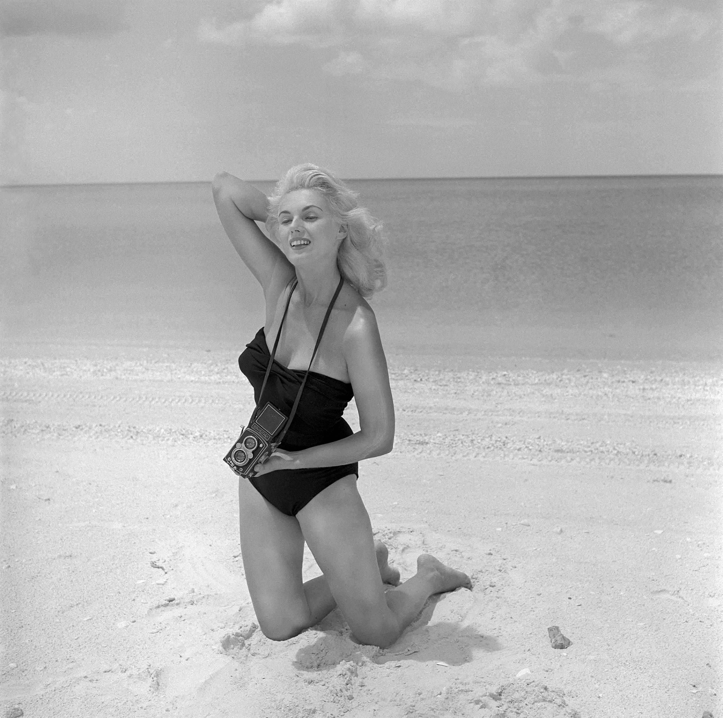 Image: Yeager poses for a self portrait in Naples, Fla., in 1960.
