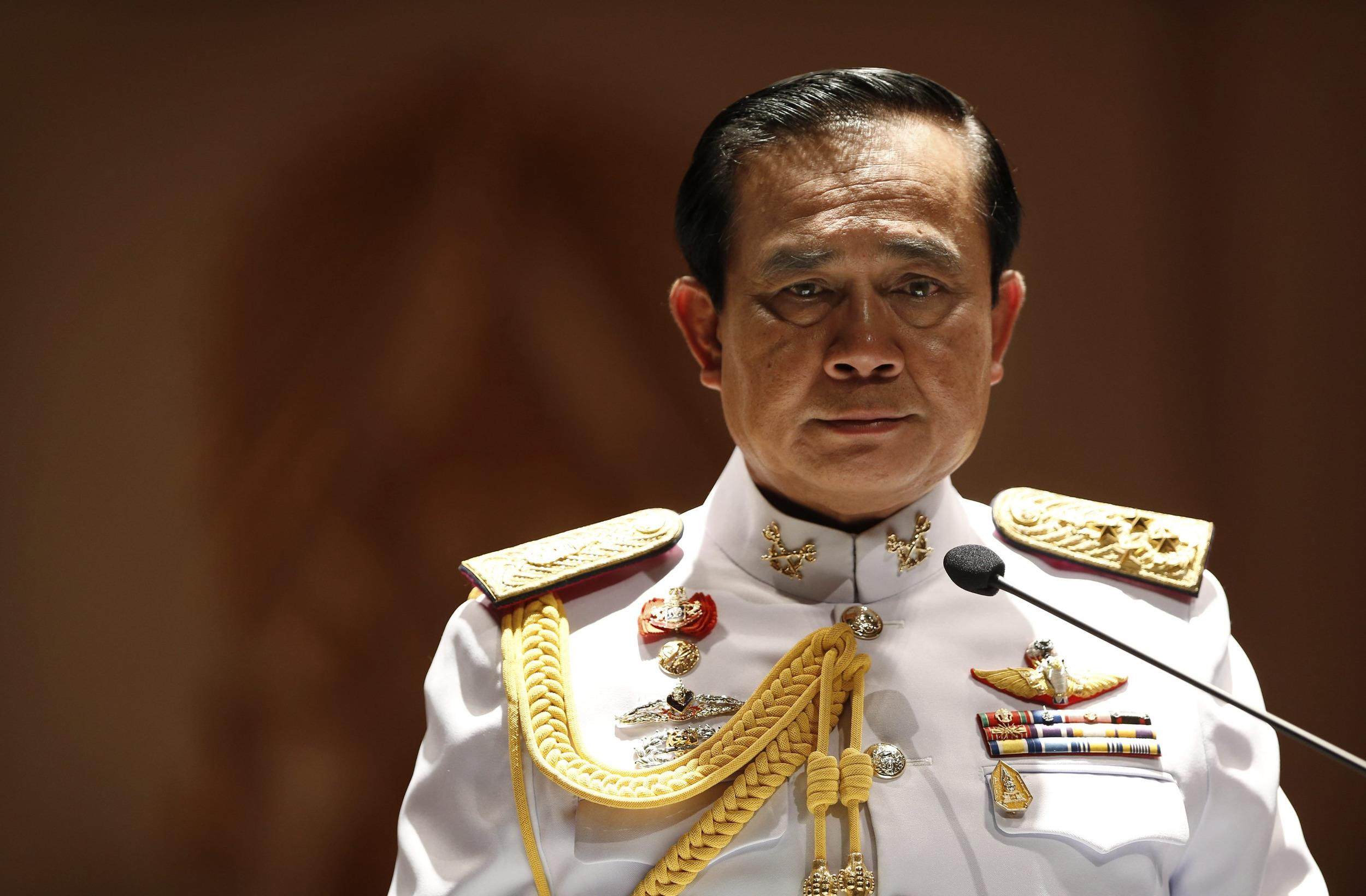 Chan Thailand  city images : Image: Thai Army chief General Prayuth Chan ocha looks on during a ...