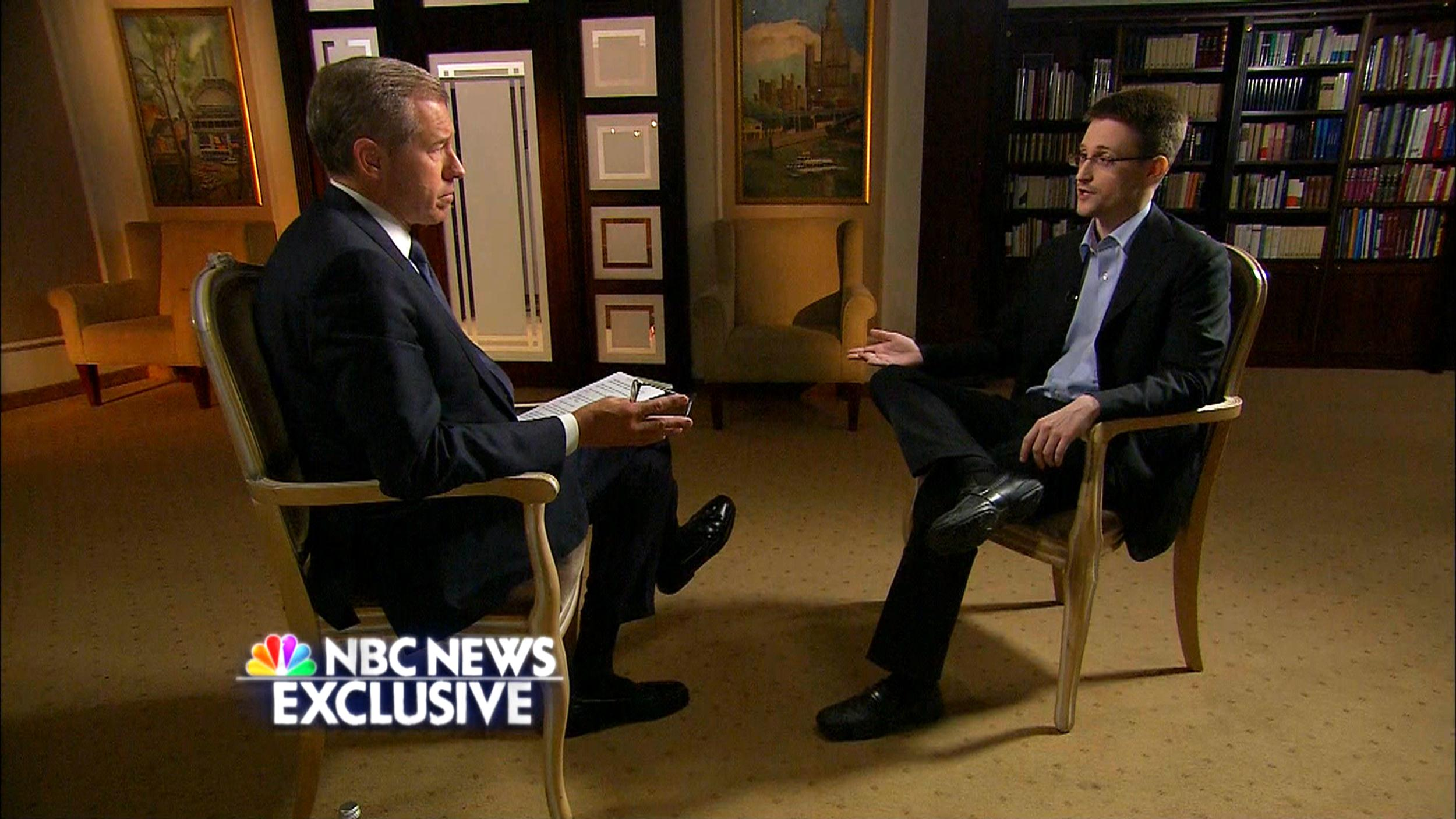 EXCLUSIVE: Edward Snowden Tells Brian Williams: 'I Was ...