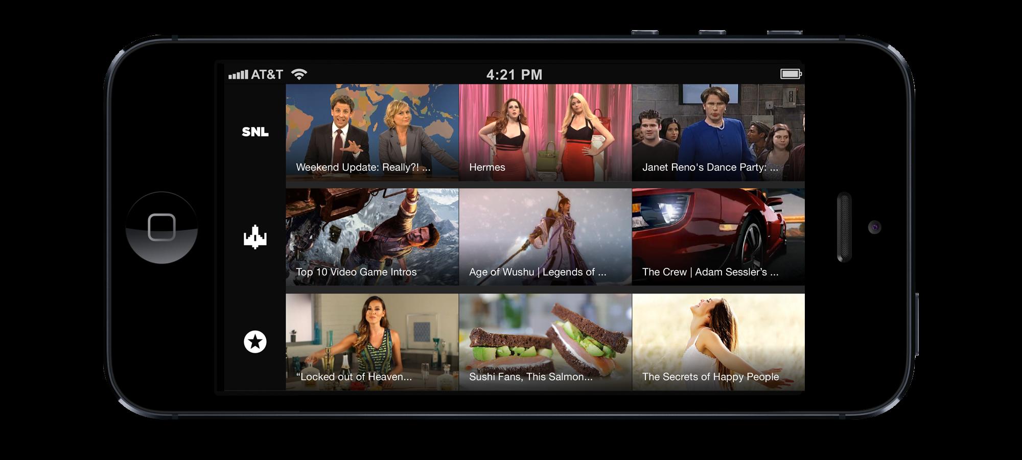 Yahoo iPhone Screen