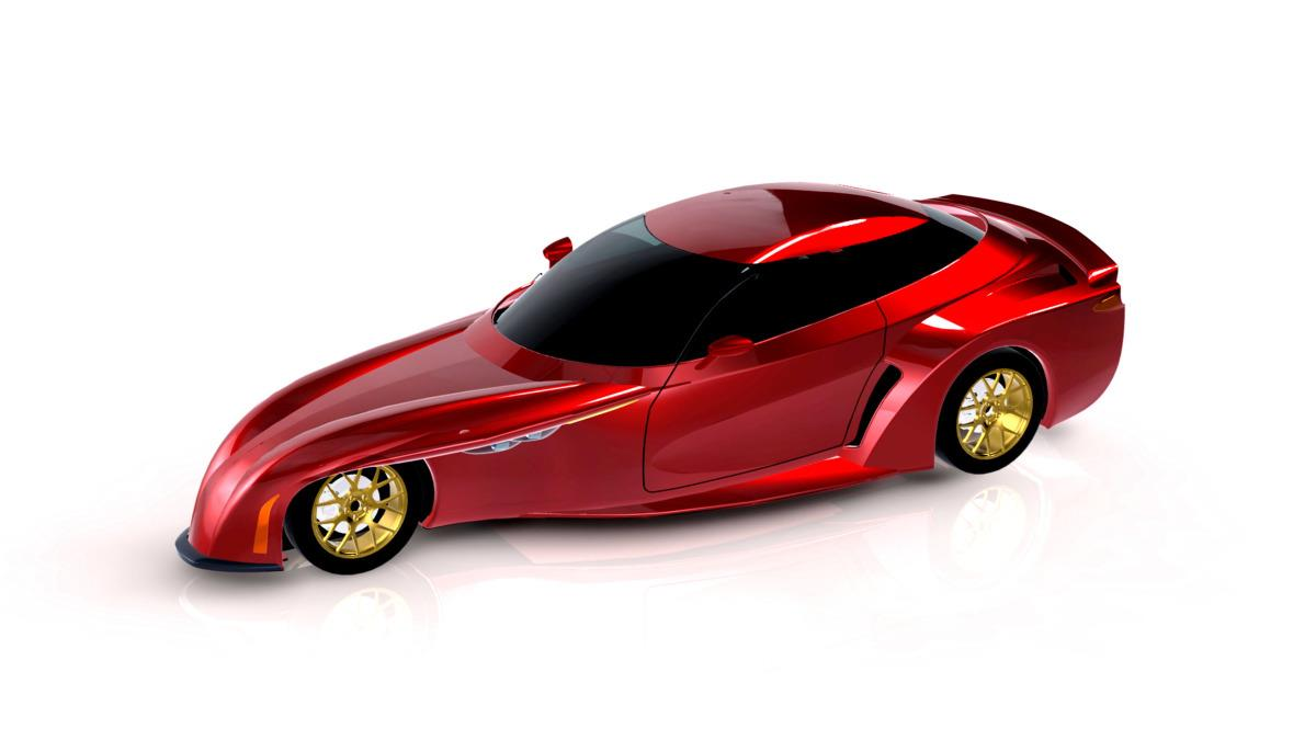 The DeltaWing sedan concept picks up many of the design elements of the race car, notably its sleek aerodynamic shape and light weight.