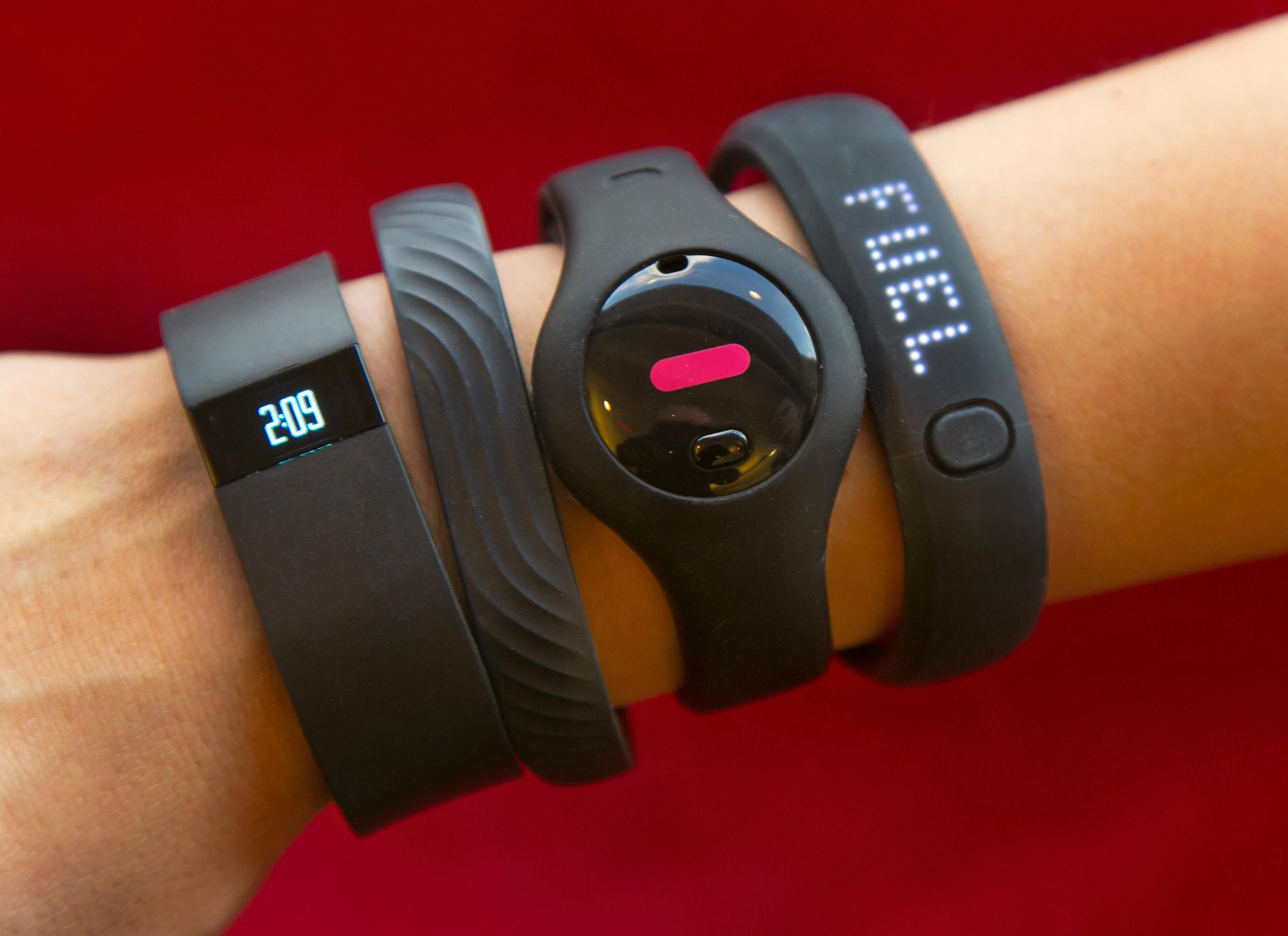 Image: Fitbit Force, Jawbone Up,  Fitbug Orb, Nike FuelBand SE