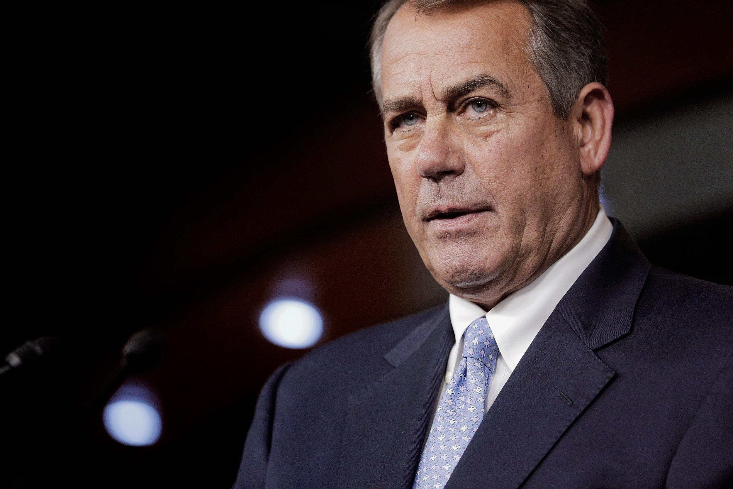 Image: House Speaker Boehner Holds His Weekly News Conference