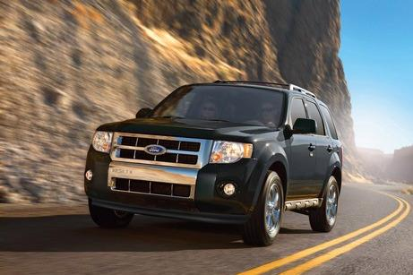 Ford has recalled 1.1 million cars in North America including the Ford Escape (shown) and Mercury Mariner from years 2008-2011.