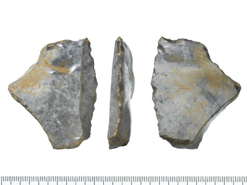 Image: A Paleolithic flint found at the site of the new U.S. Embassy in London.
