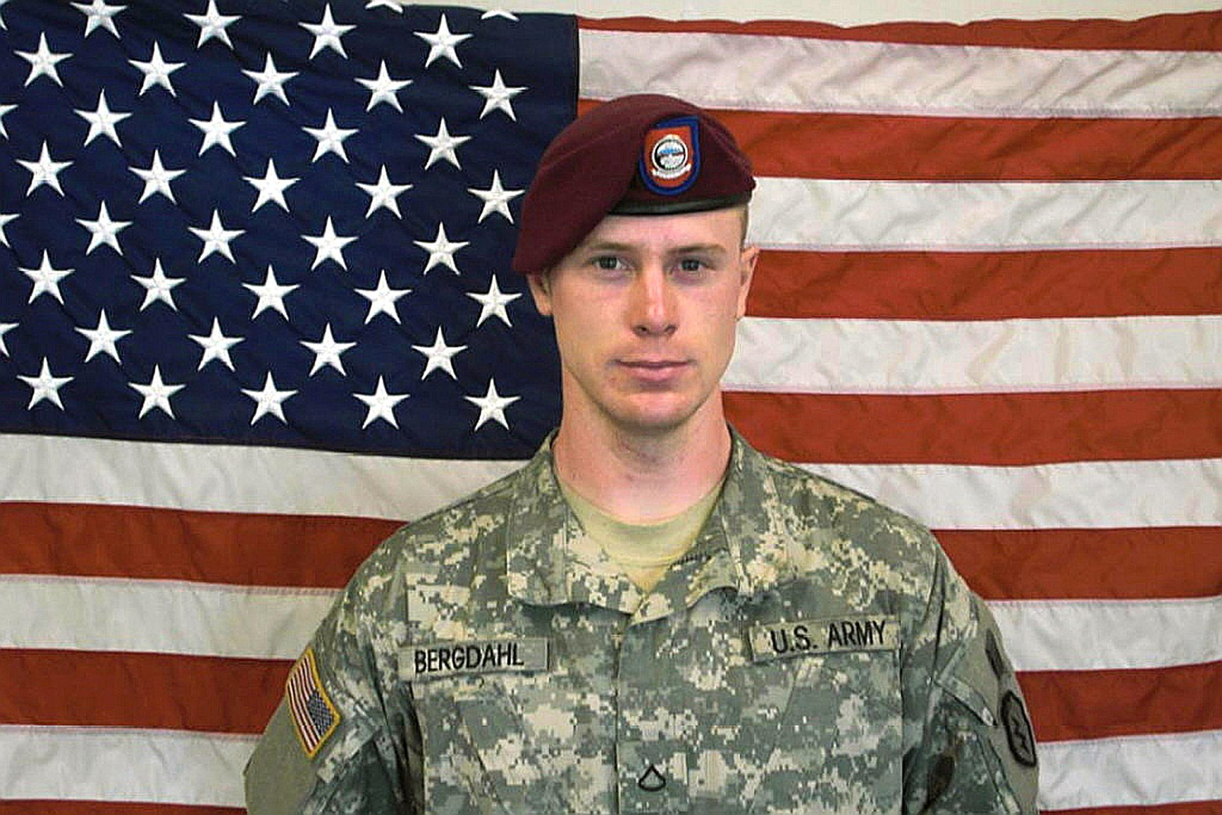 Image: Private First Class(Pfc) Bowe Bergdahl, before his capture by the Taliban in Afghanistan