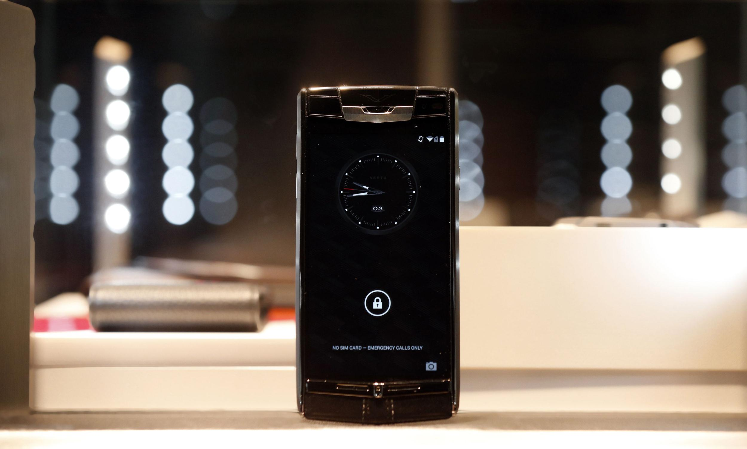 Vertu luxury phone launch