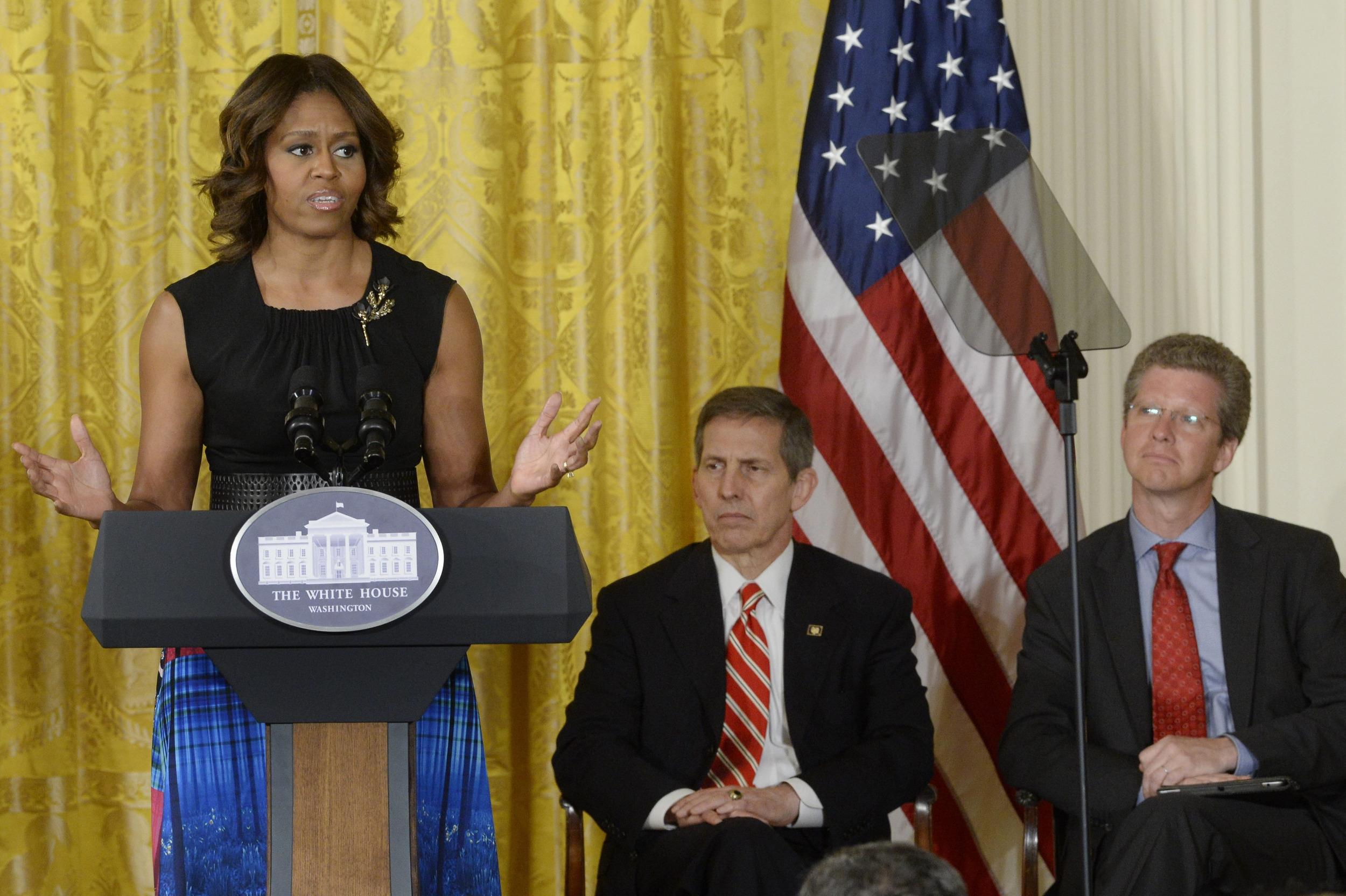 Image: US First Lady Michelle Obama announces The Mayors Challenge to End Veteran Homelessness
